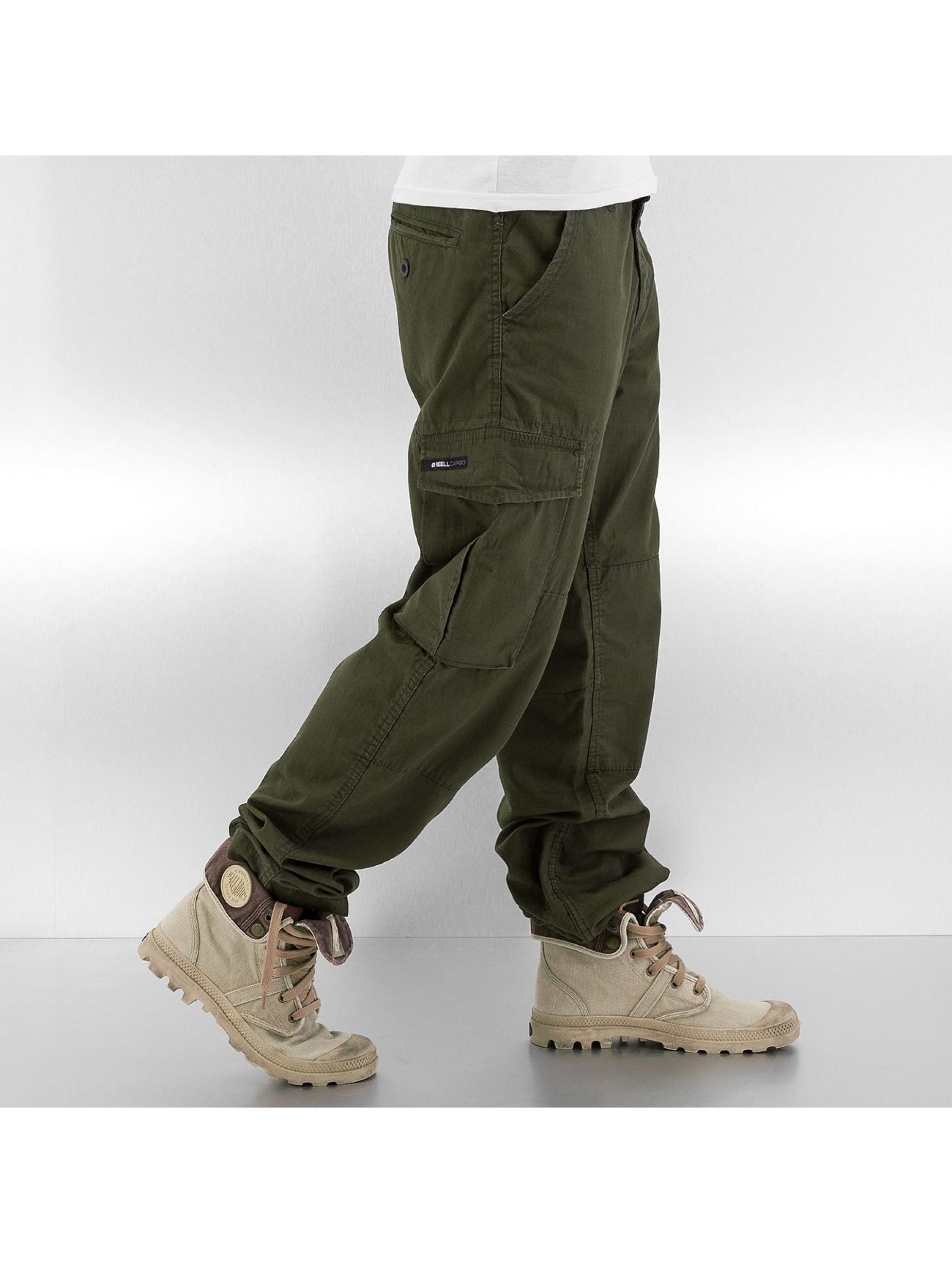 Reell Jeans Pantalon cargo Ripstop vert