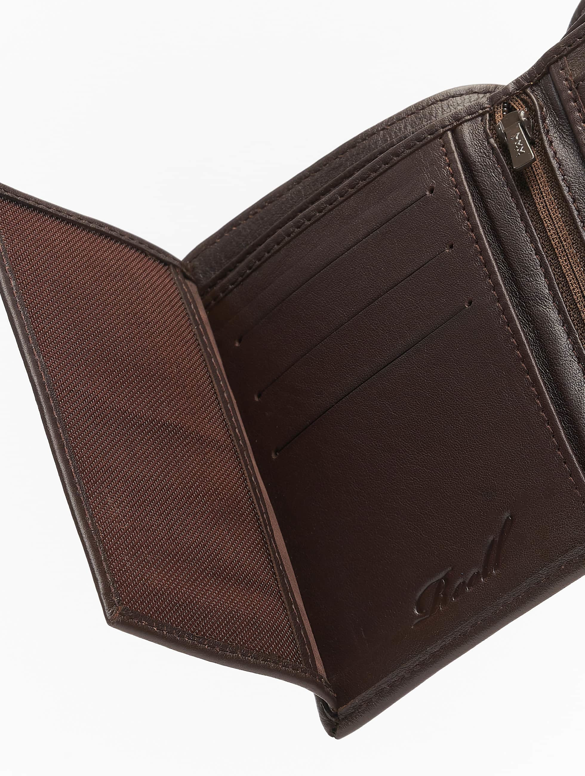Reell Jeans Portefeuille Trifold Leather brun