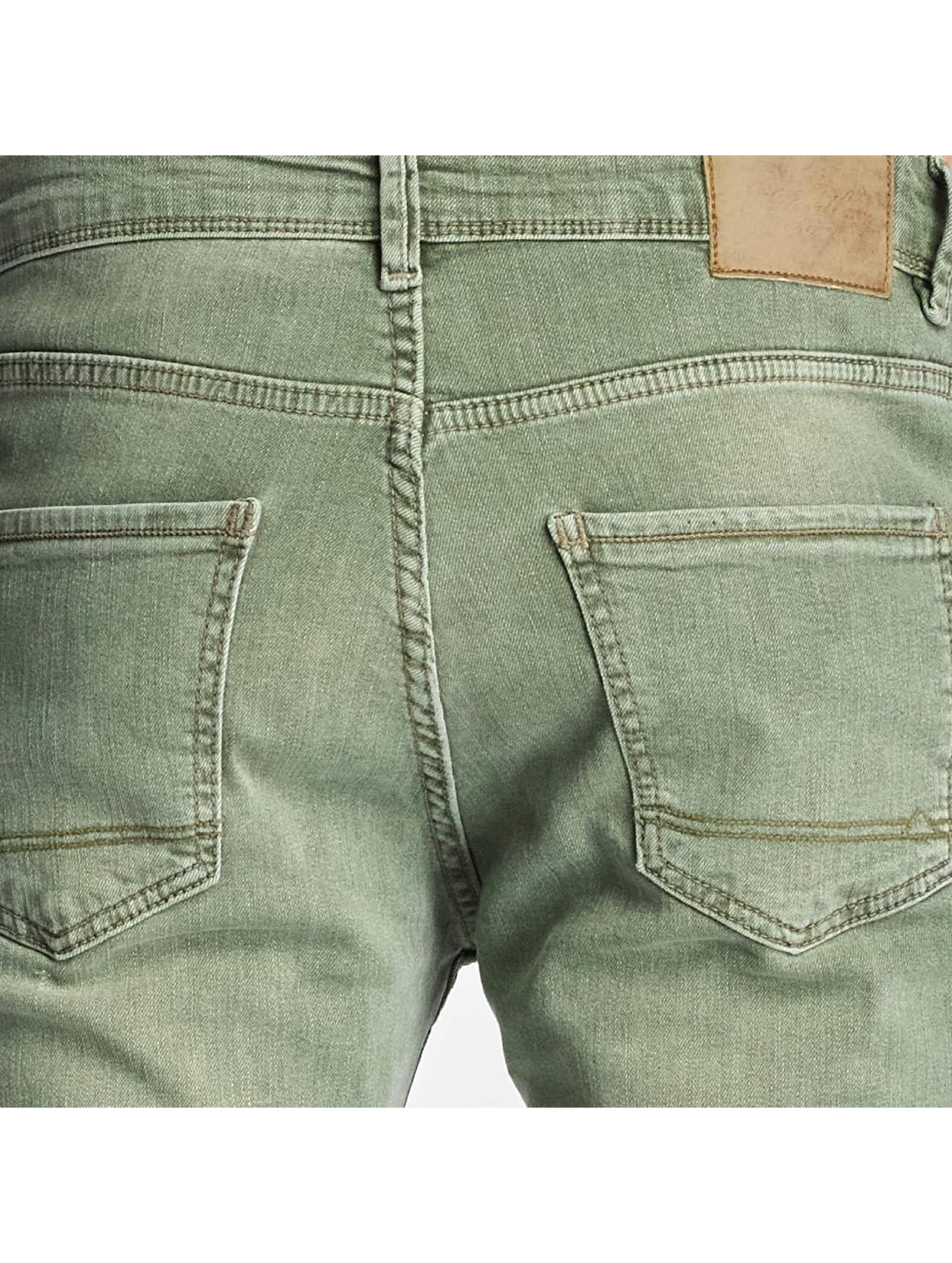 Reell Jeans Slim Fit Jeans Spider olivová