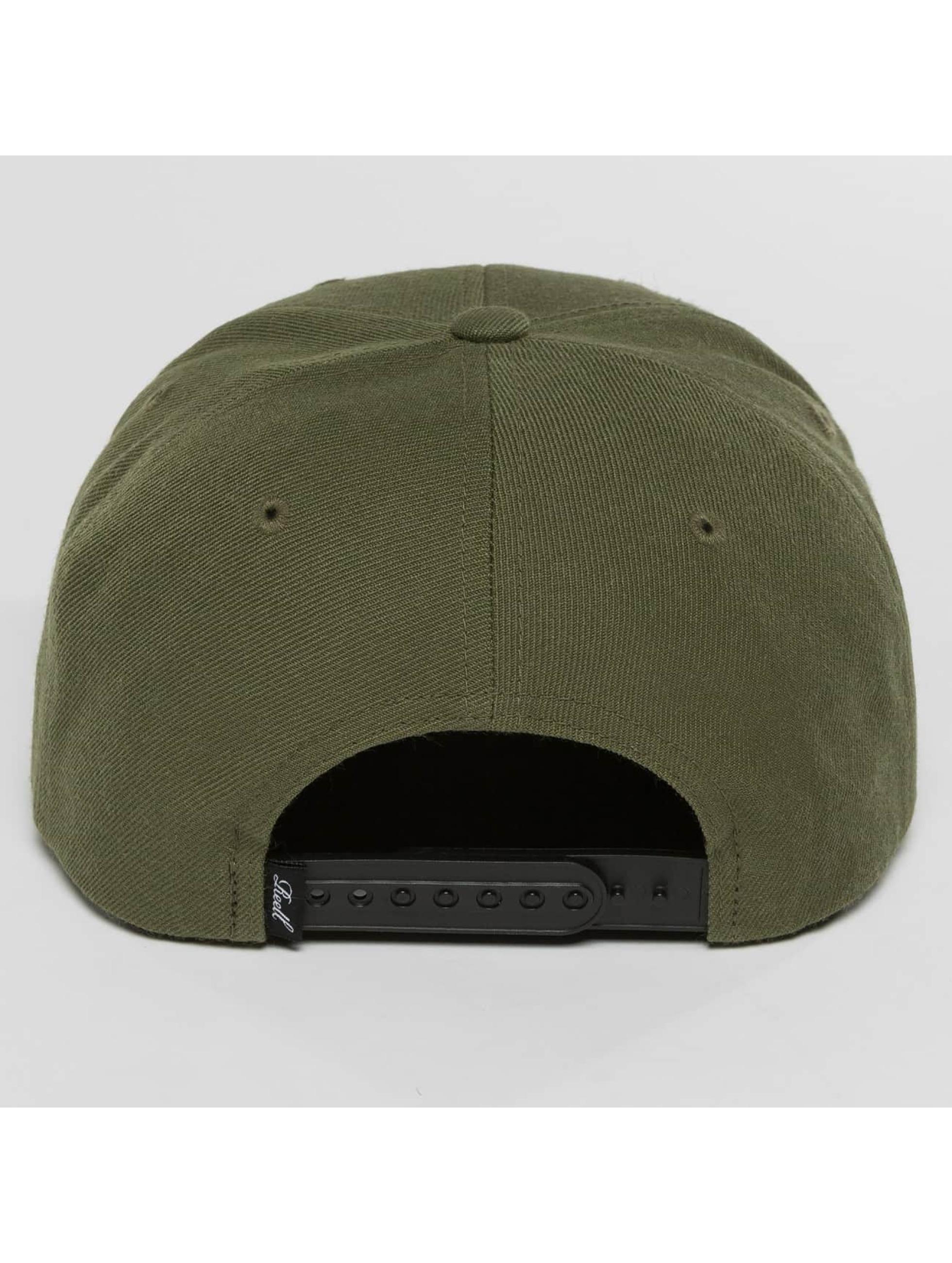 Reell Jeans snapback cap Pitchout olijfgroen