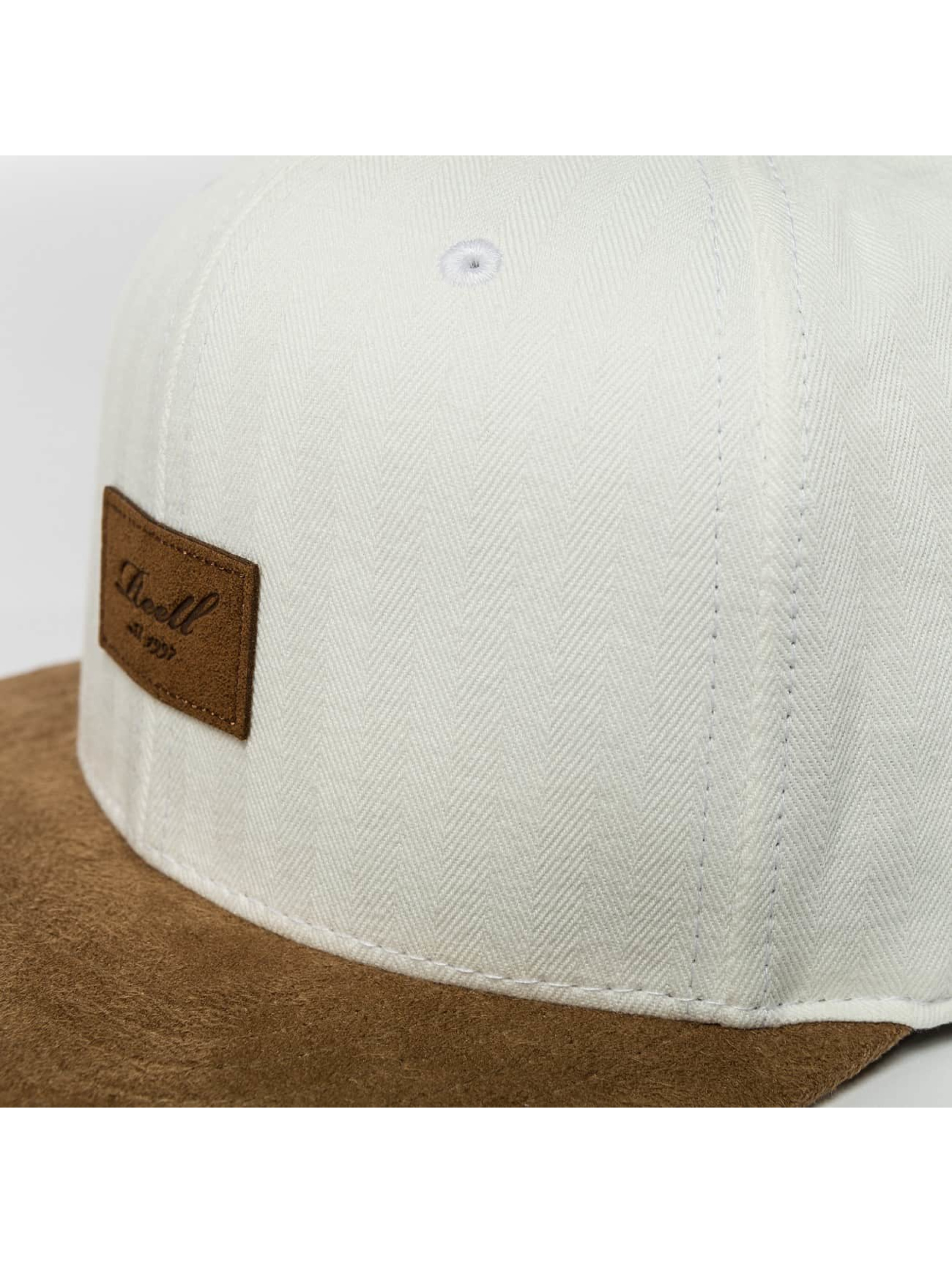 Reell Jeans Snapback Caps Suede bialy