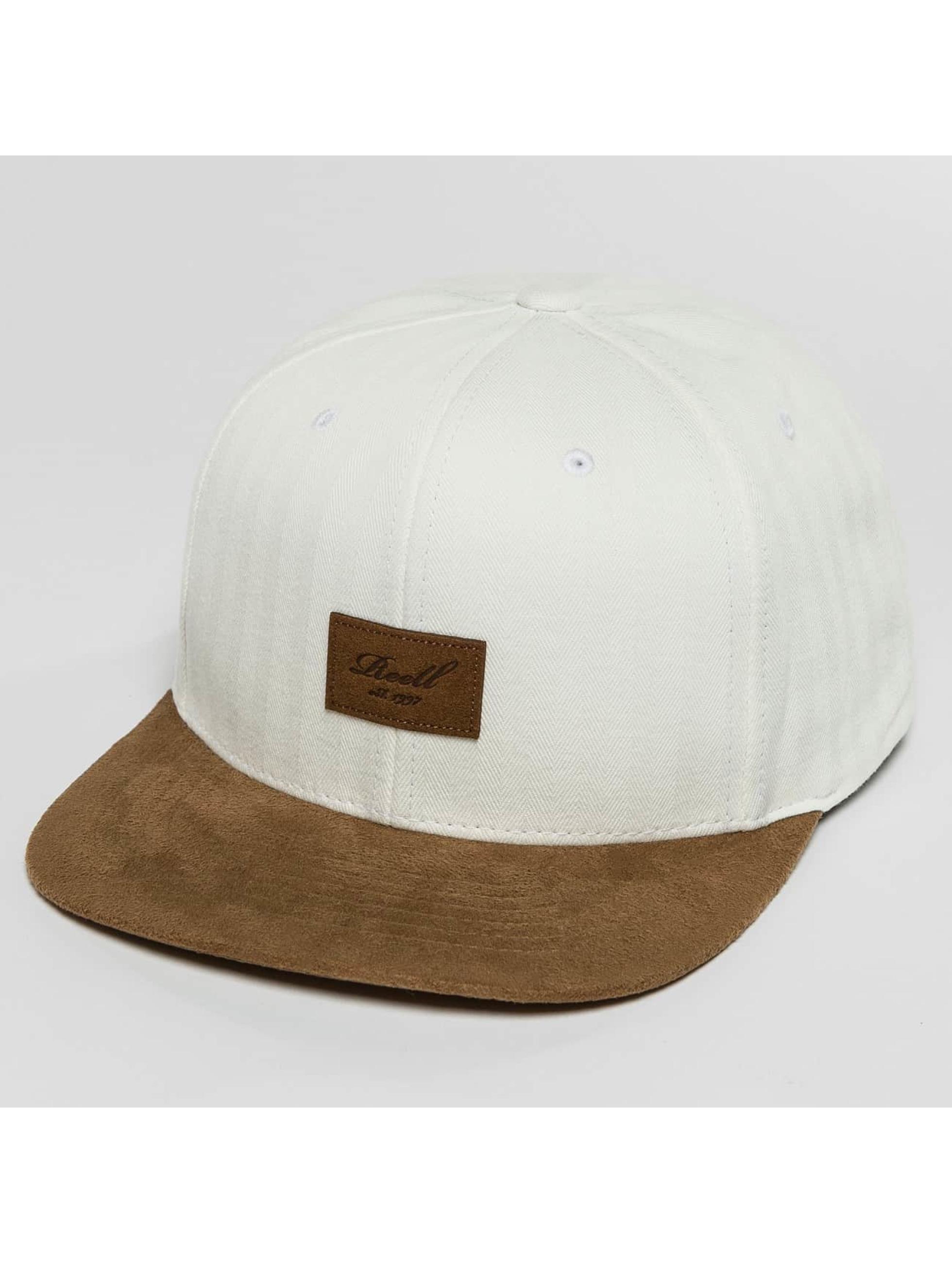 Reell Jeans Snapback Caps Suede hvid