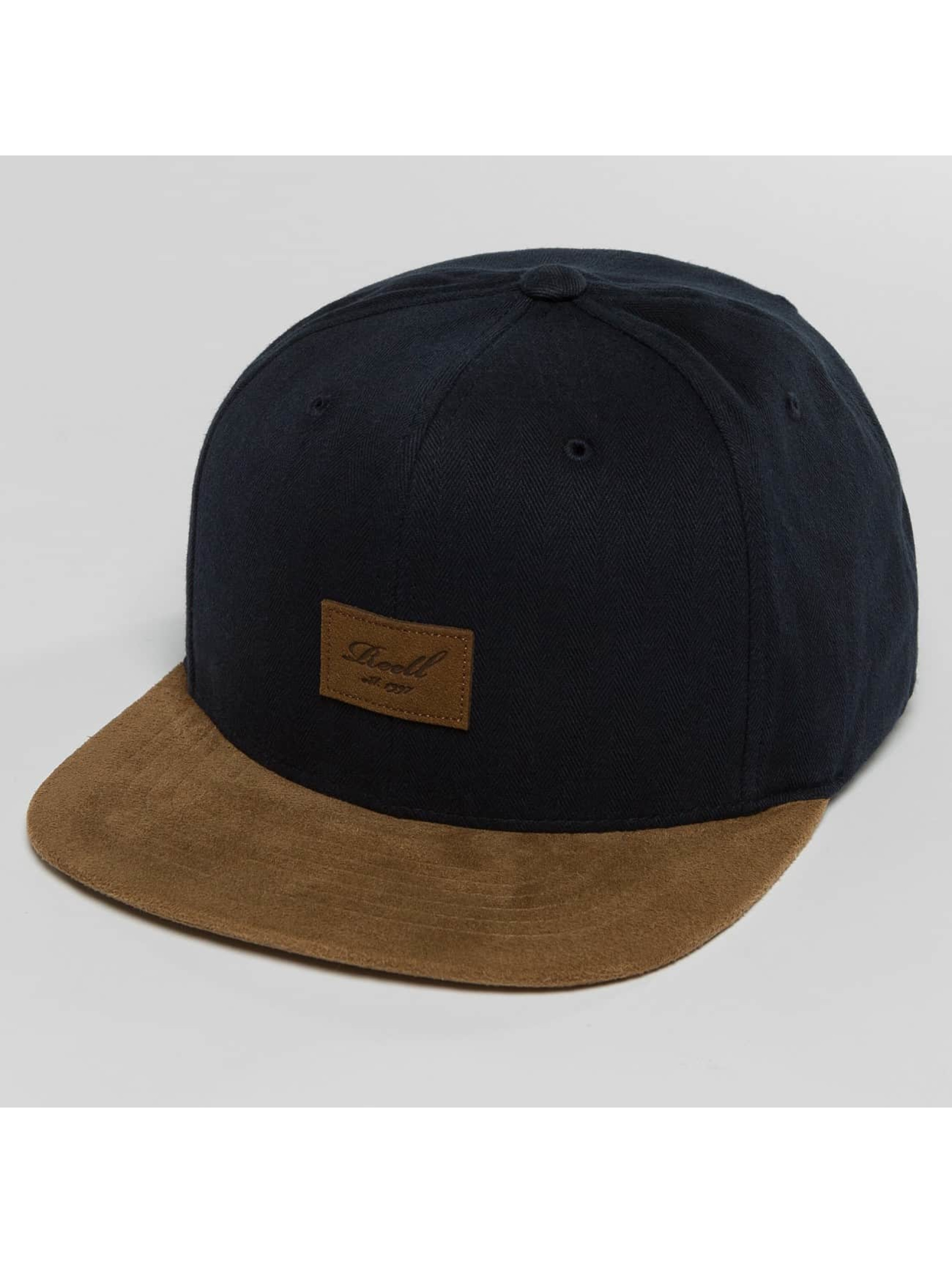 Reell Jeans Snapback Caps Suede modrý