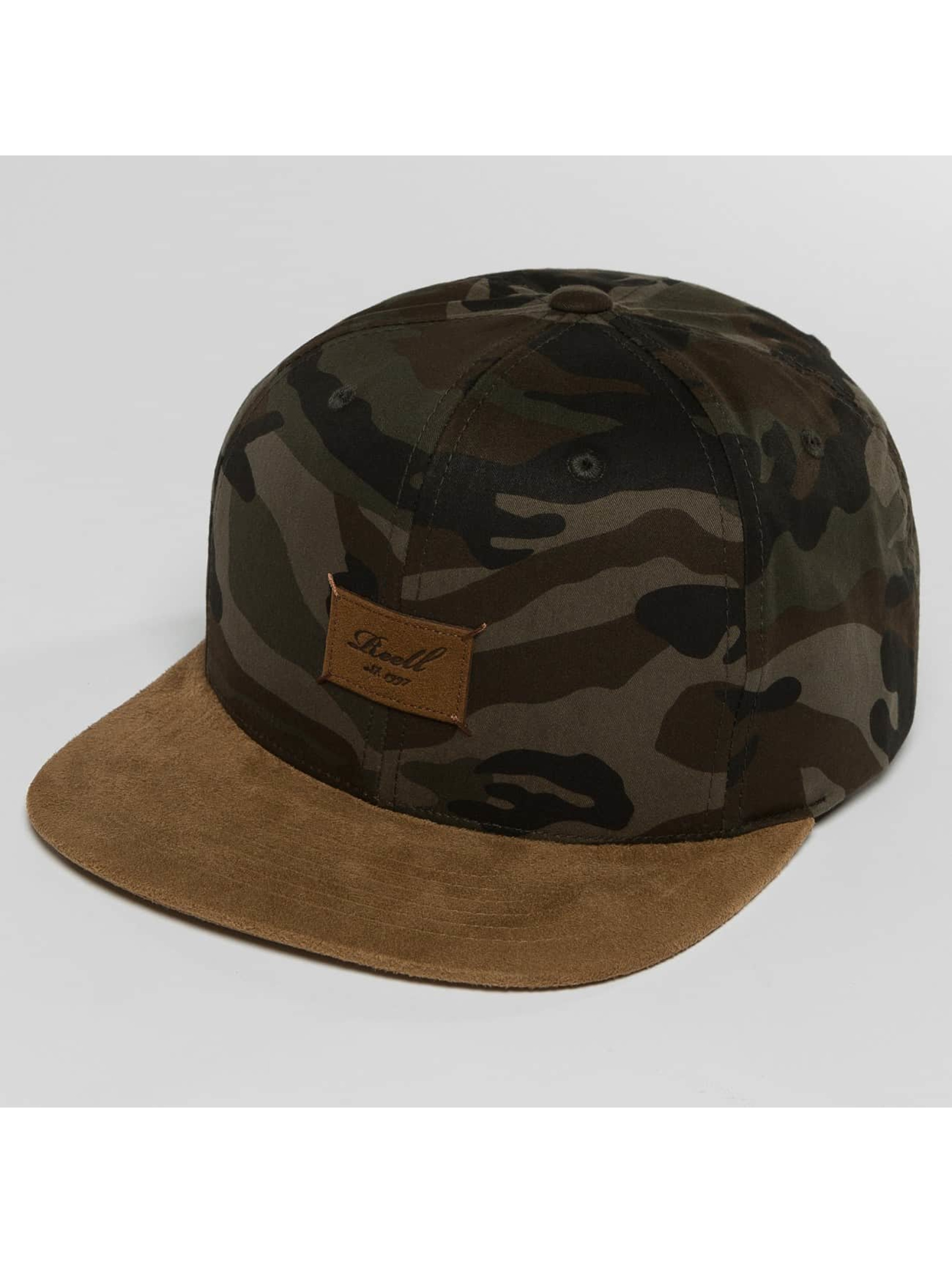 Reell Jeans Snapback Caps Suede moro