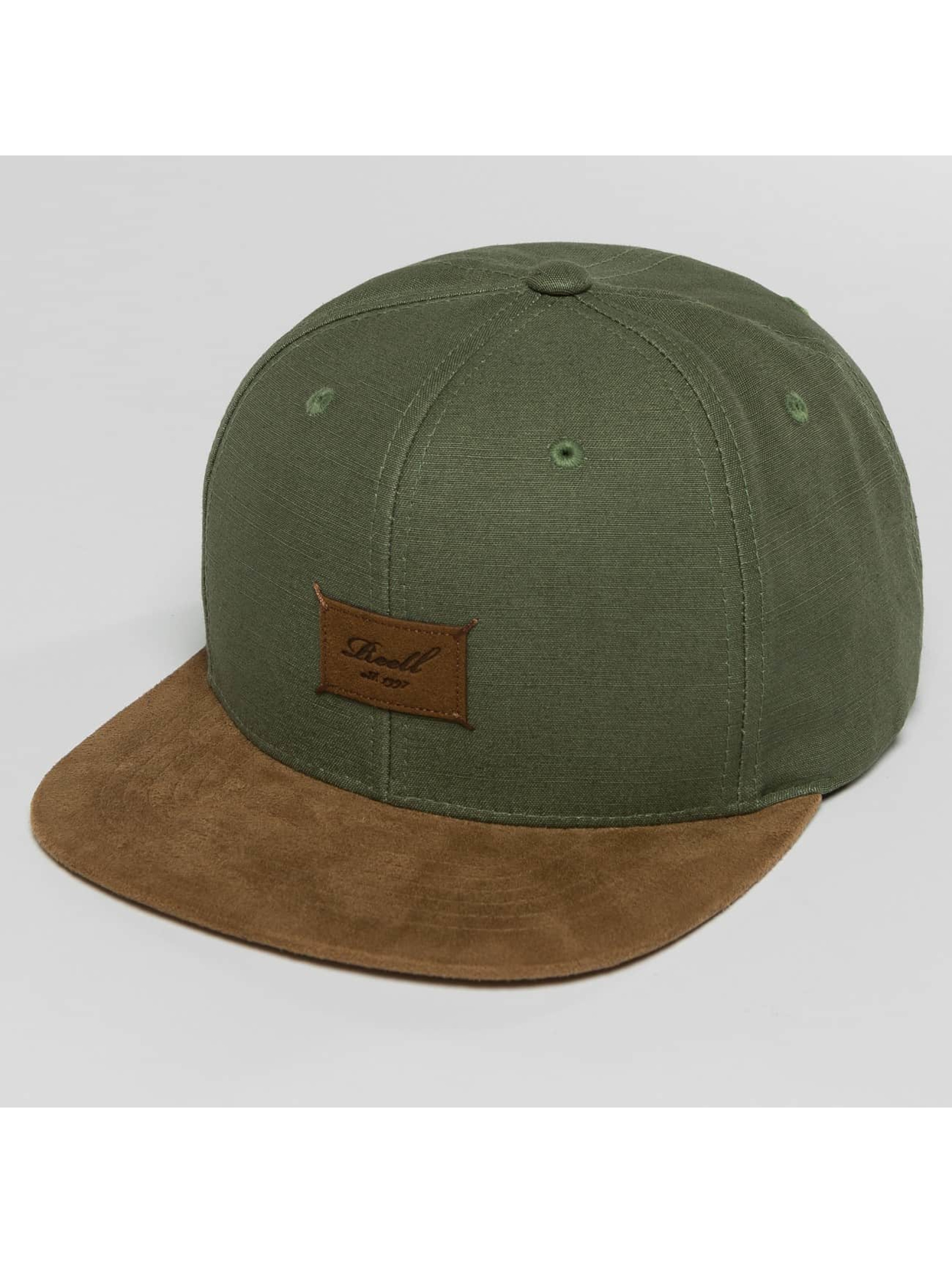 Reell Jeans Snapback Caps Suede oliven