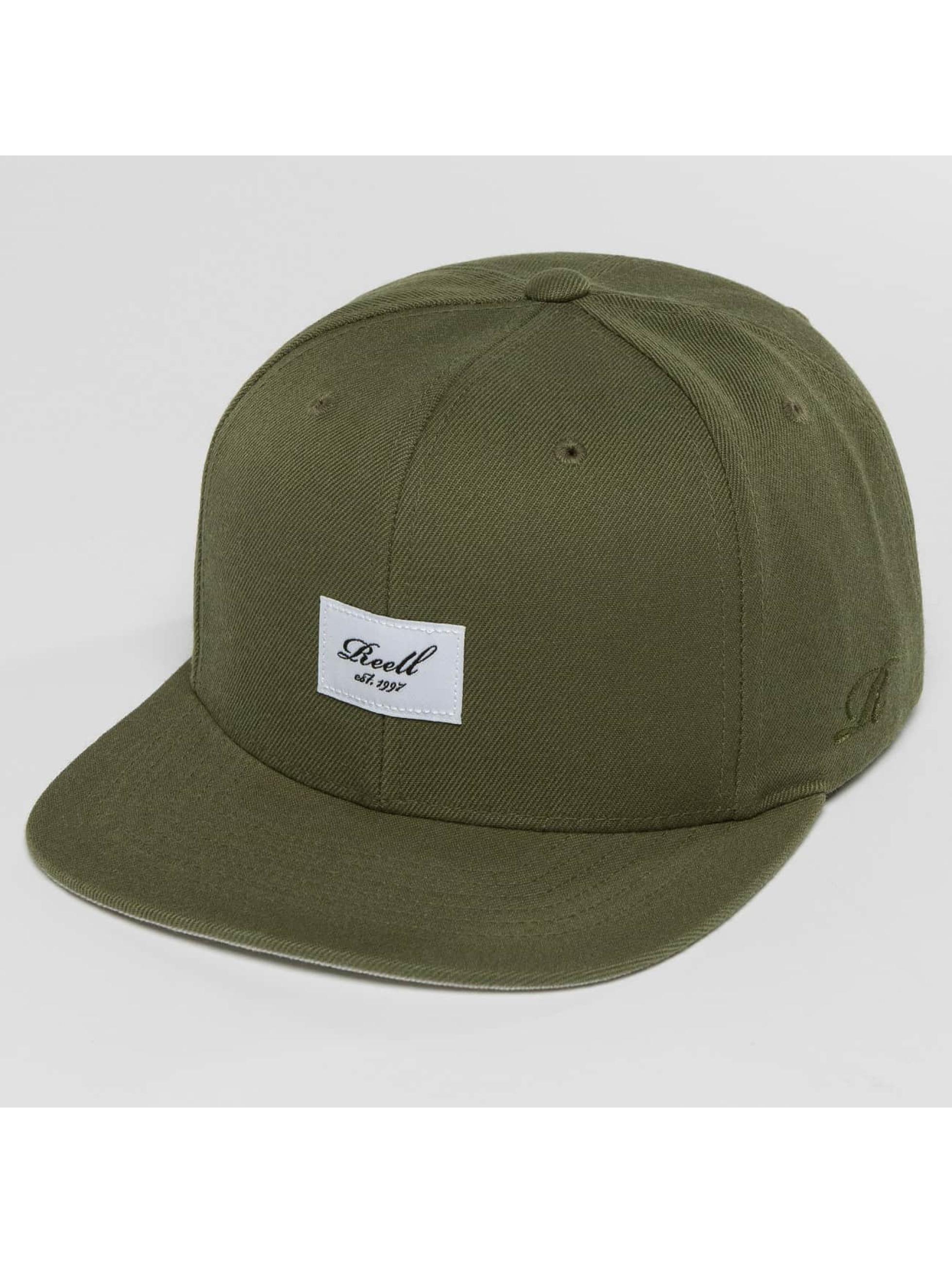Reell Jeans Snapback Caps Base olivový