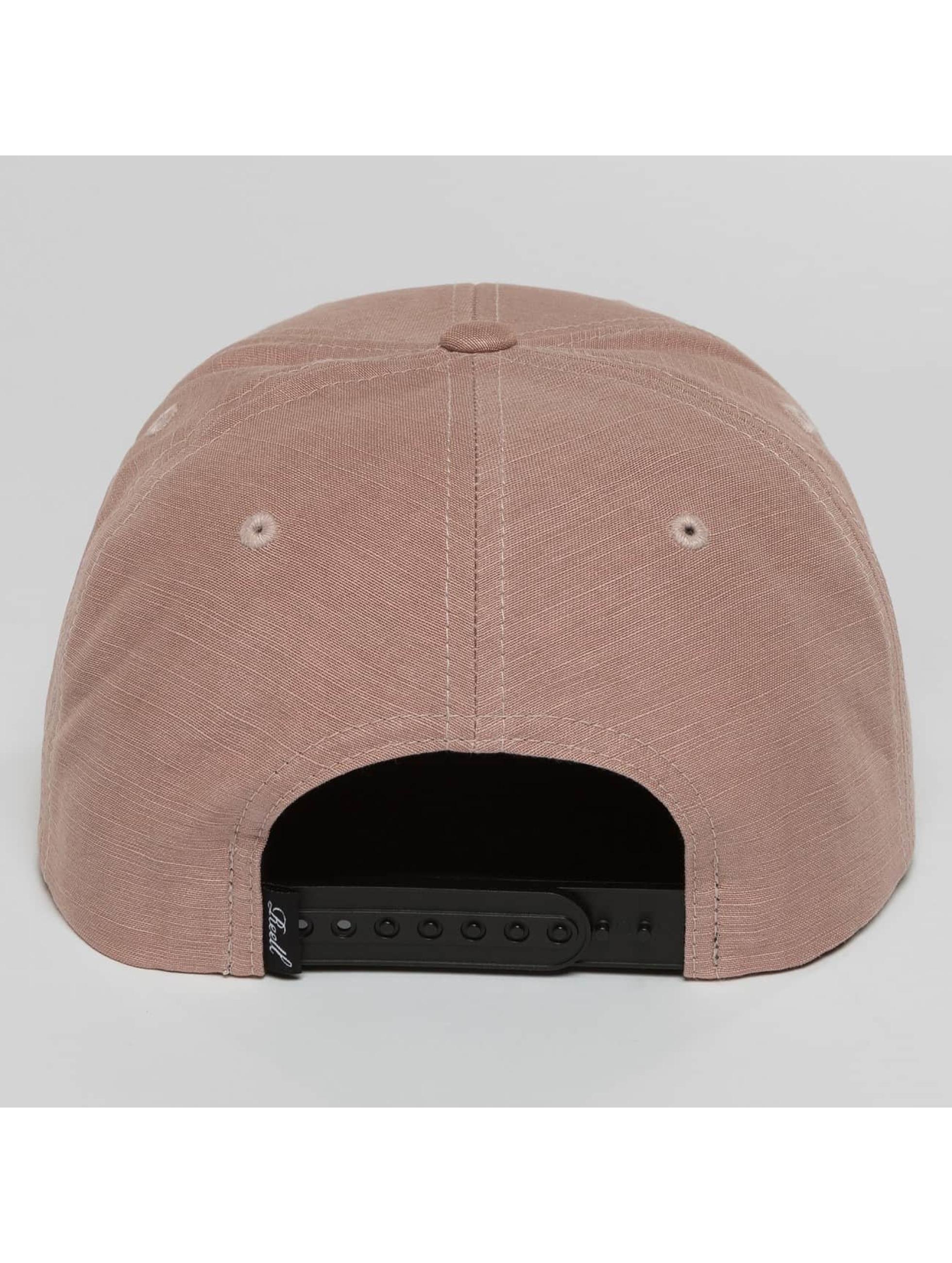 Reell Jeans Snapback Caps Suede růžový