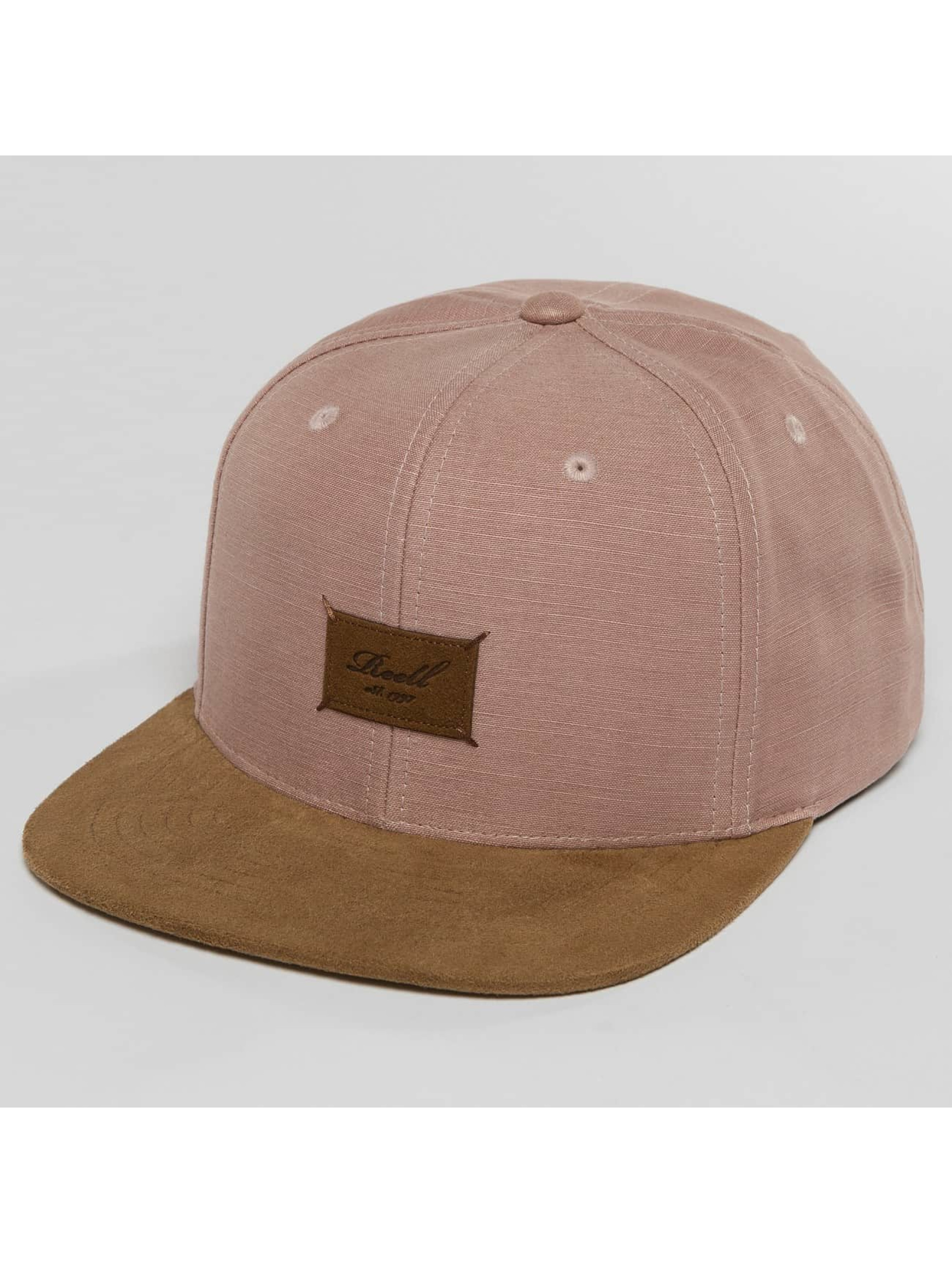 Reell Jeans Snapback Caps Suede vaaleanpunainen