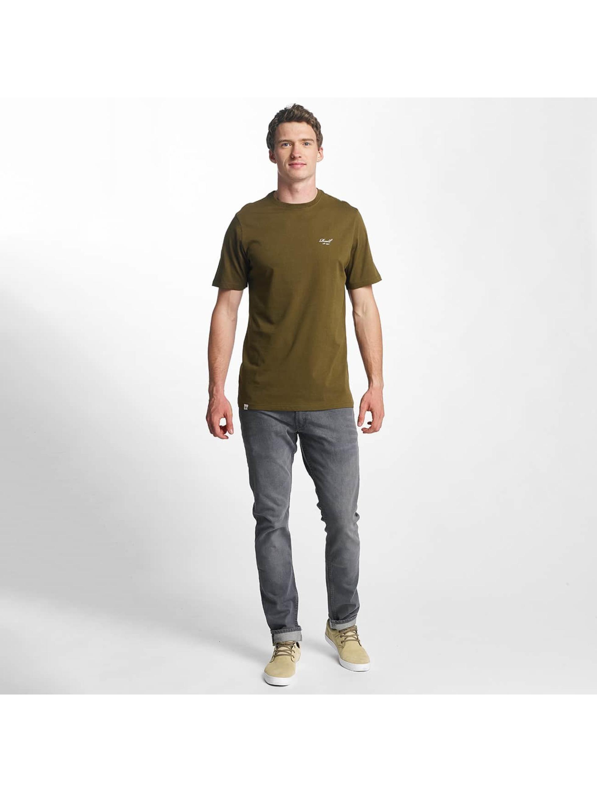 Reell Jeans T-paidat Small Script oliivi