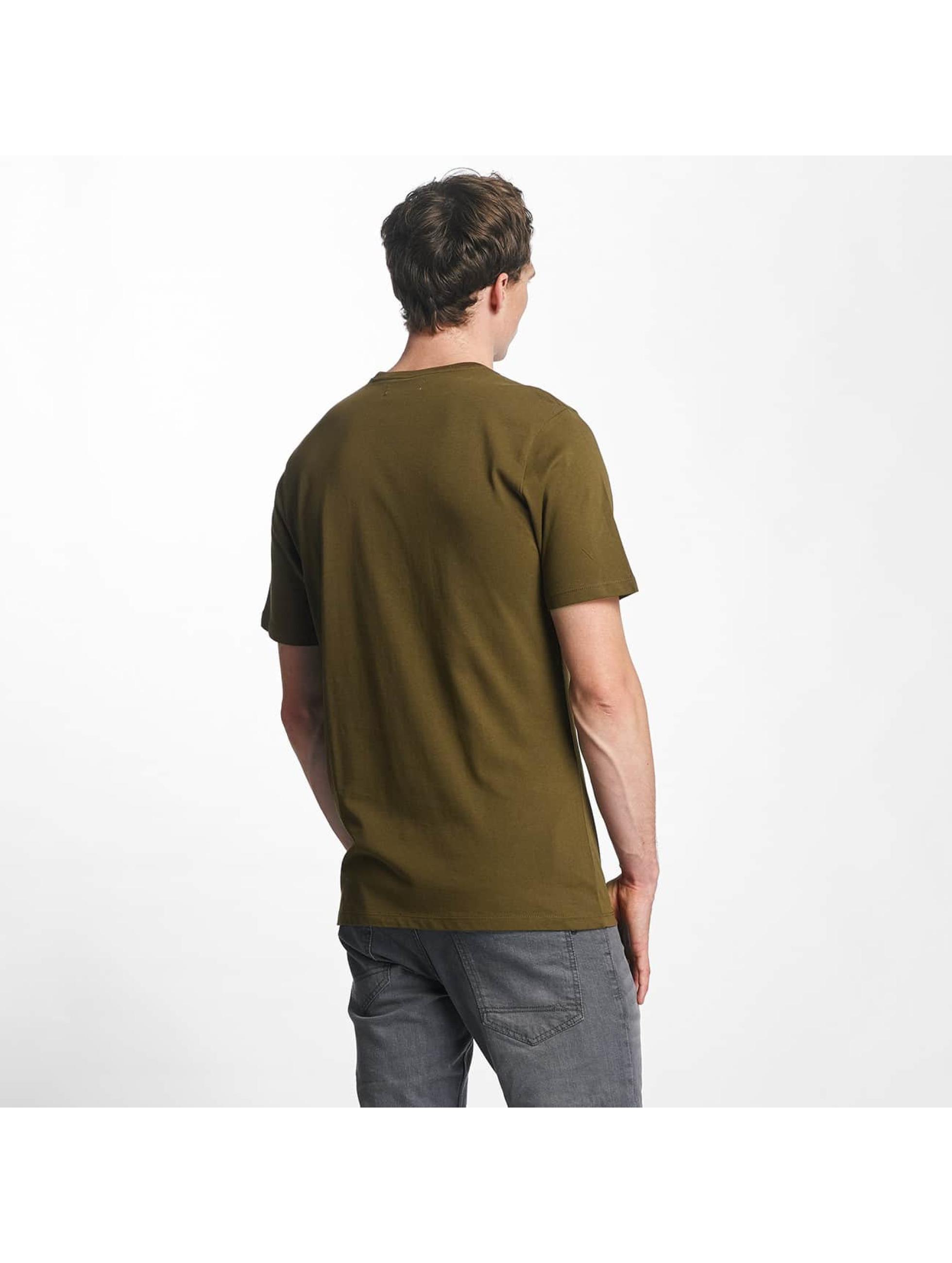 Reell Jeans t-shirt Small Script olijfgroen