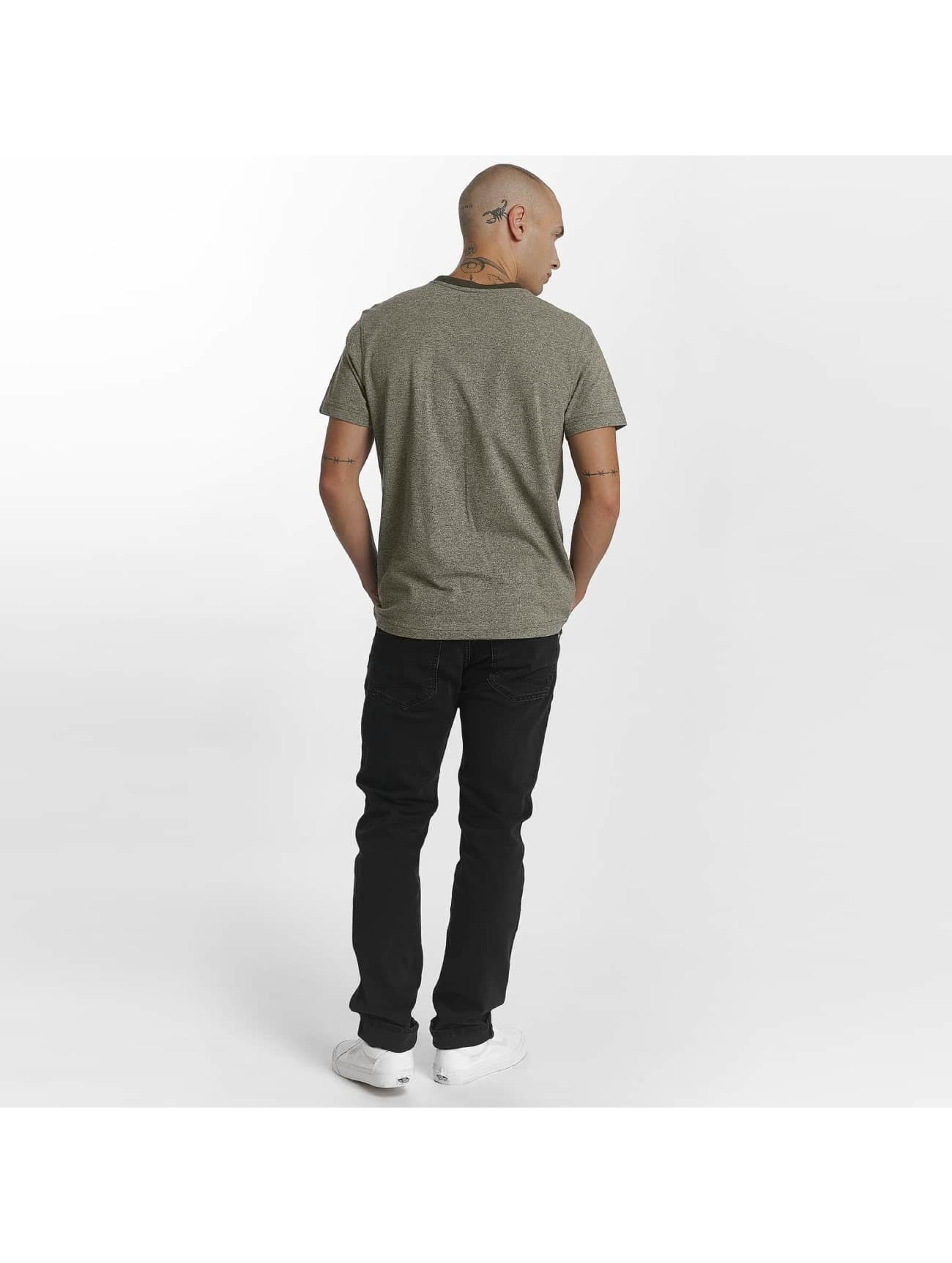 Reell Jeans t-shirt Pique olijfgroen