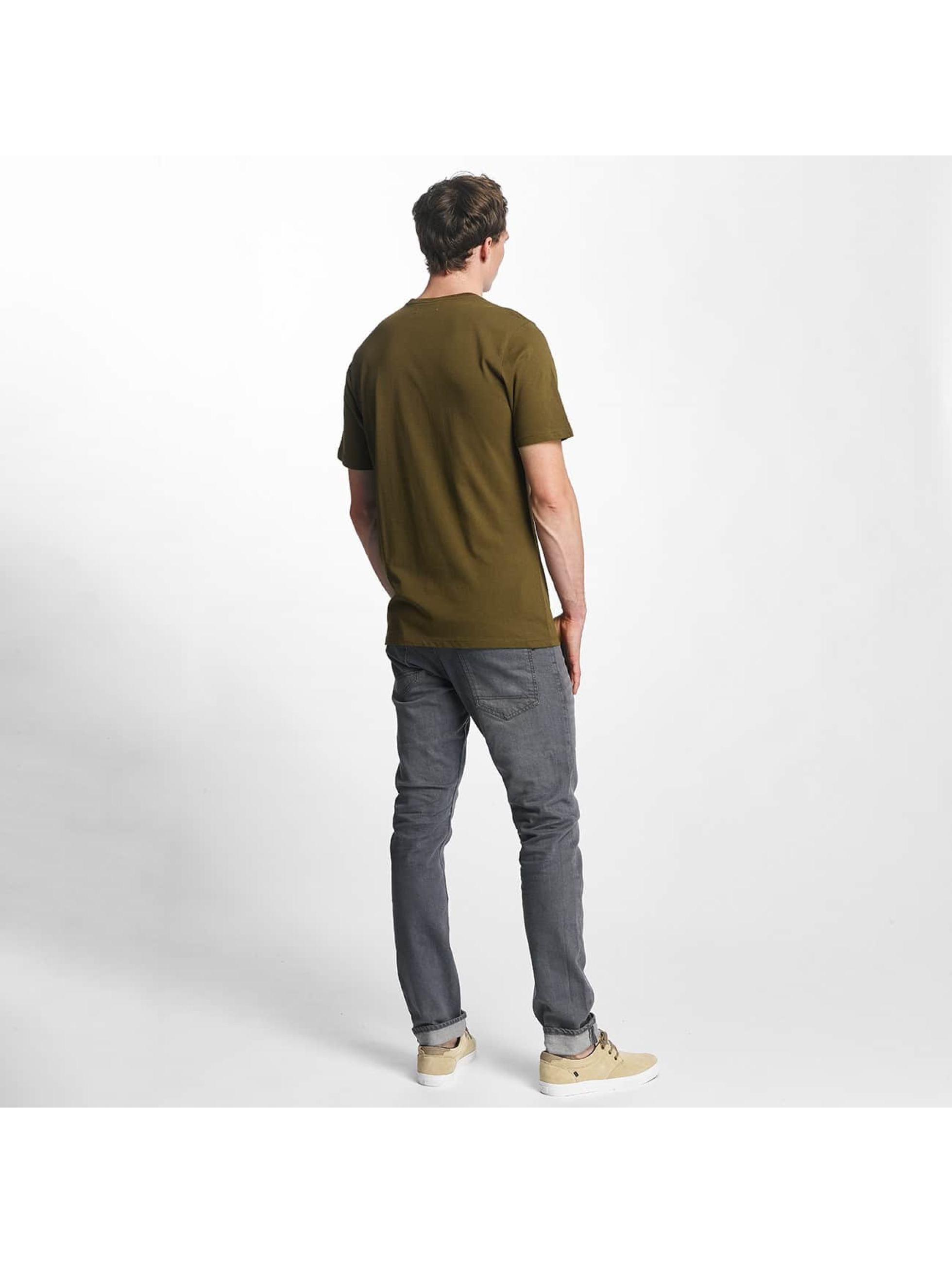 Reell Jeans Tričká Small Script olivová