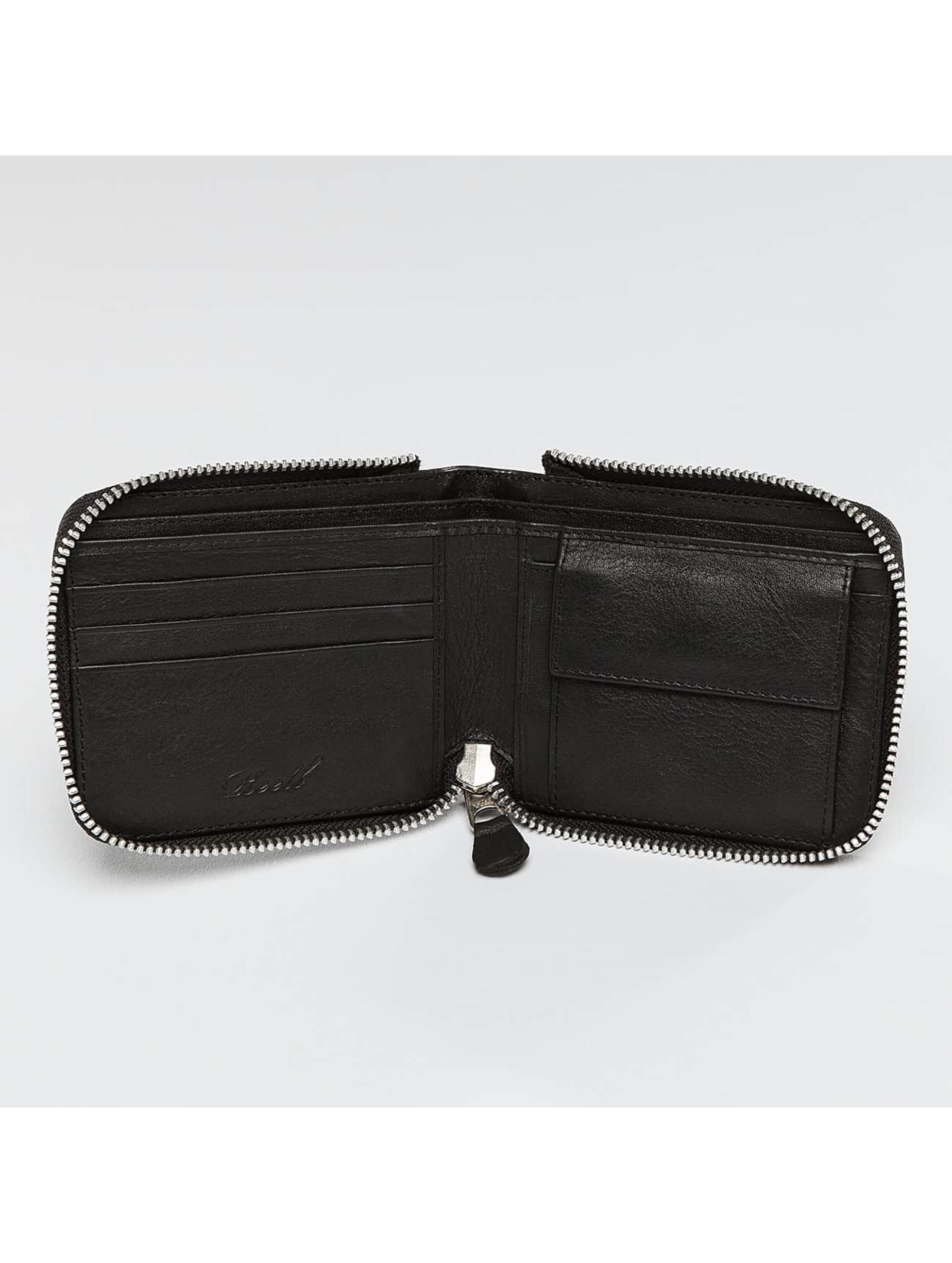 Reell Jeans Wallet Zip Leather black