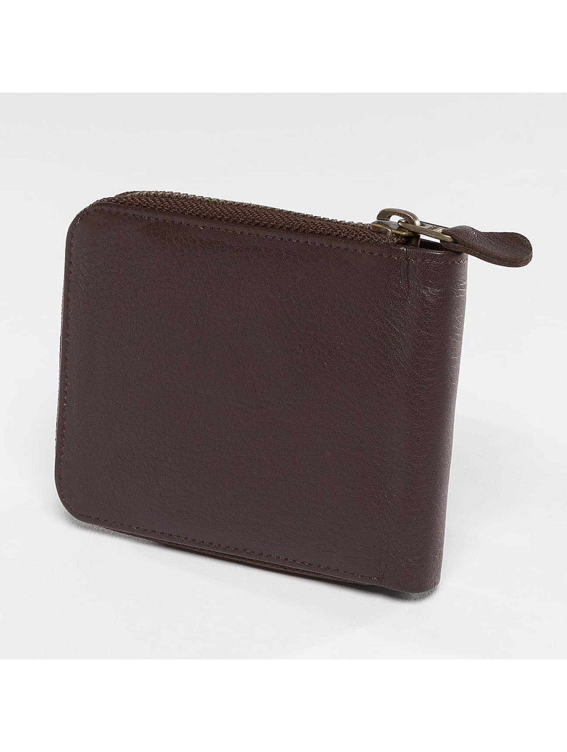 Reell Jeans Wallet Zip Leather brown