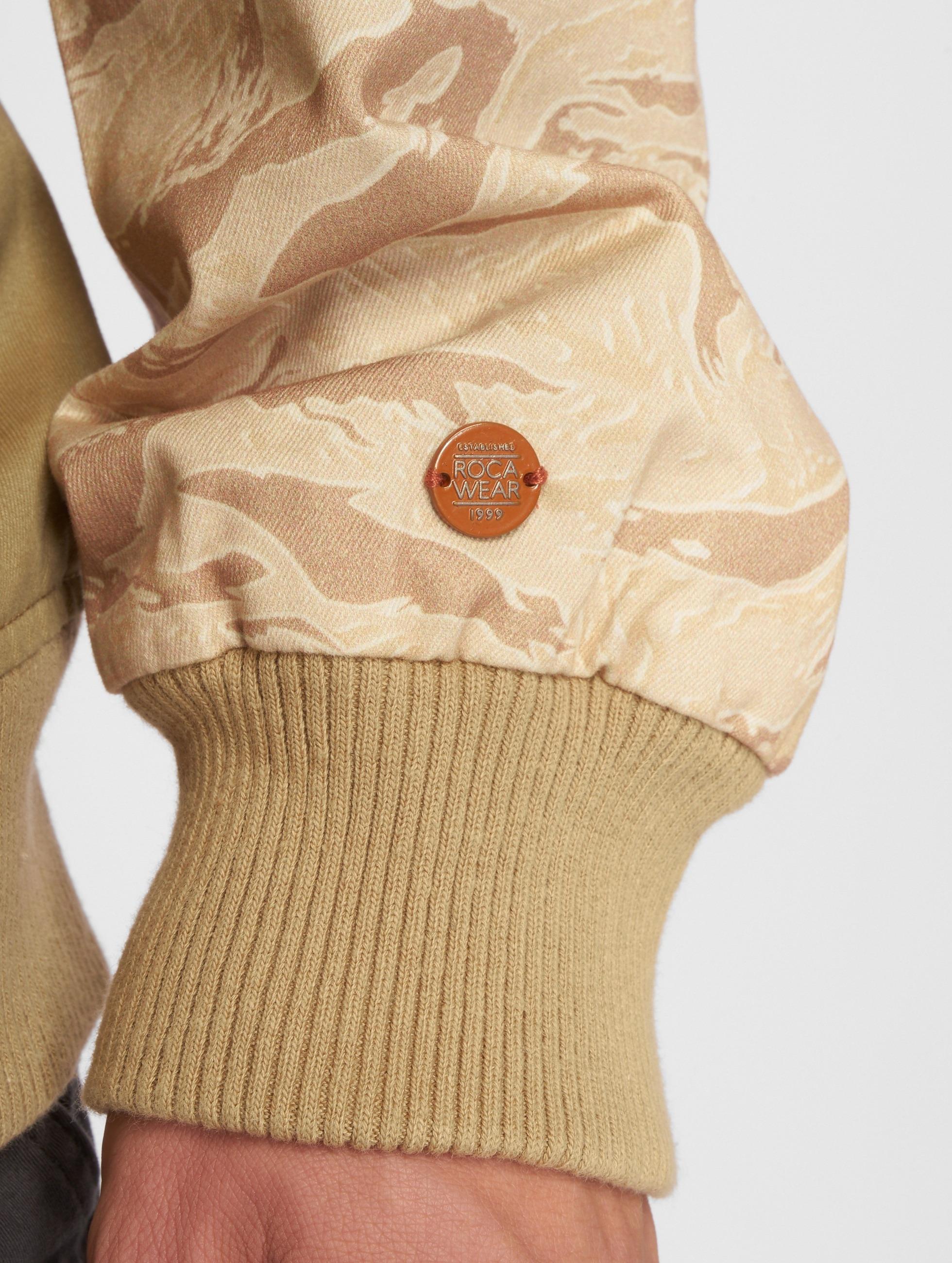 Rocawear Basebalové bundy Ante kaki