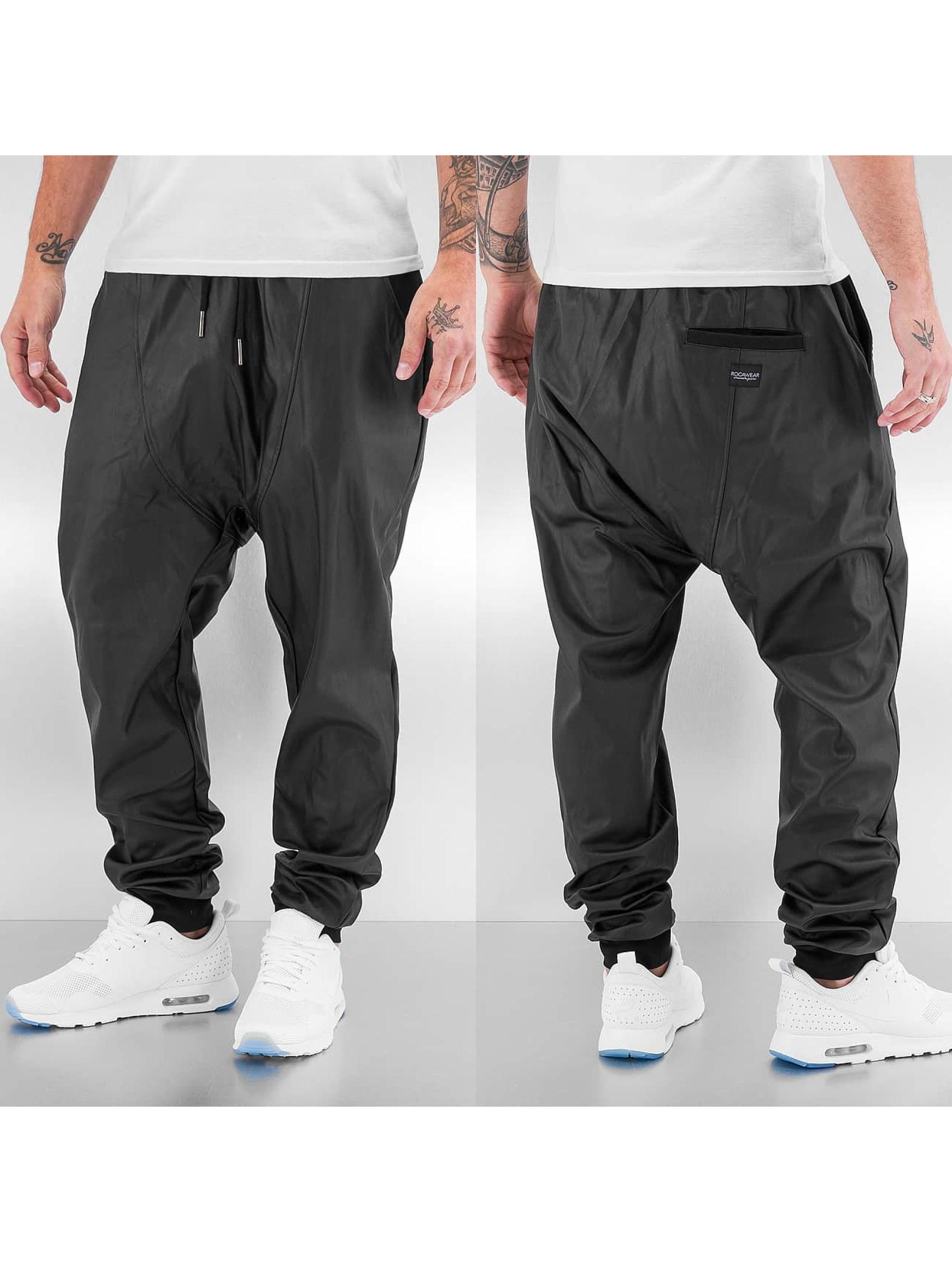 Rocawear Jogginghose Hammer PU Fleece schwarz