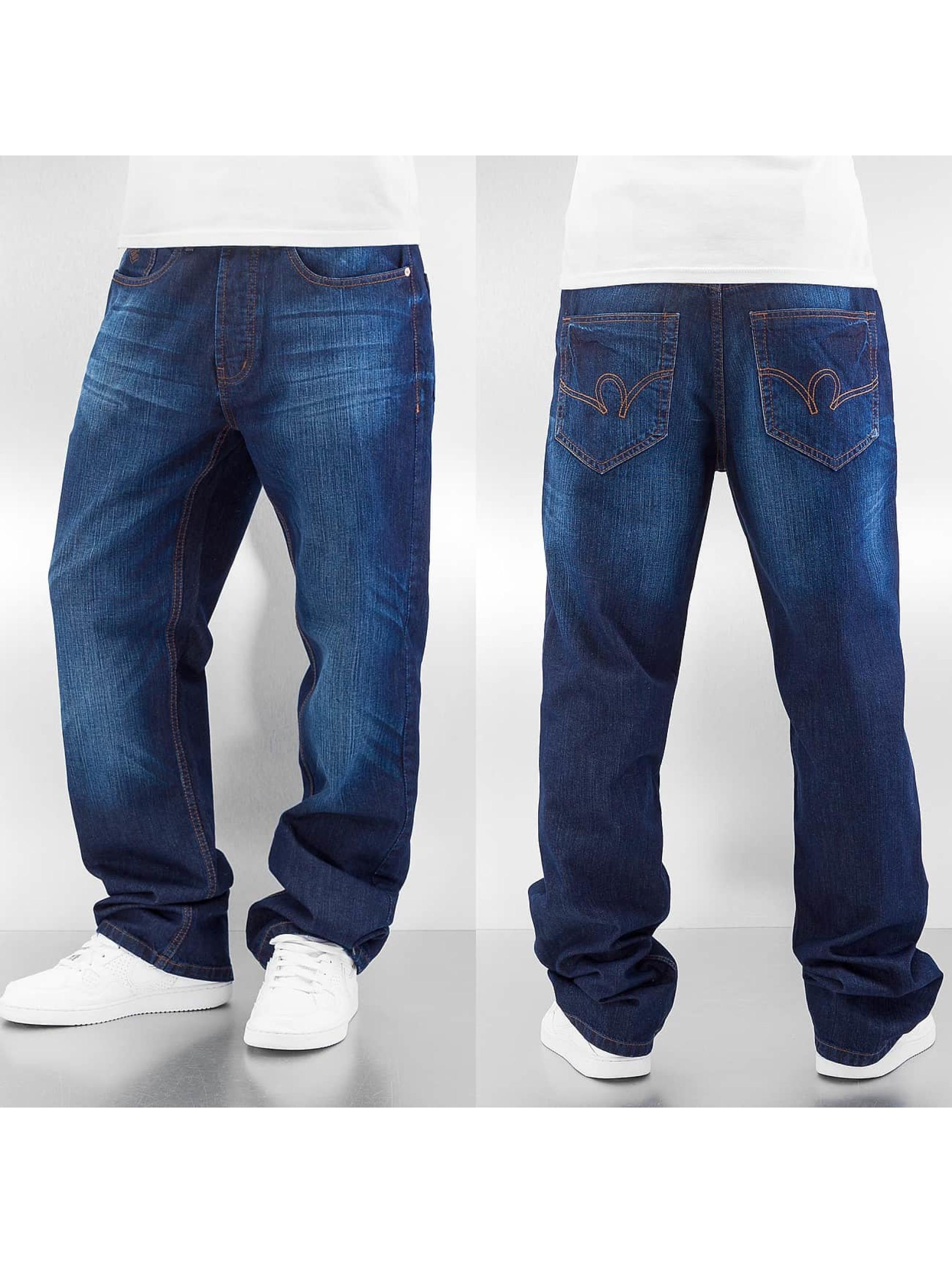 Rocawear Loose Fit Jeans Anniv Stitching blau