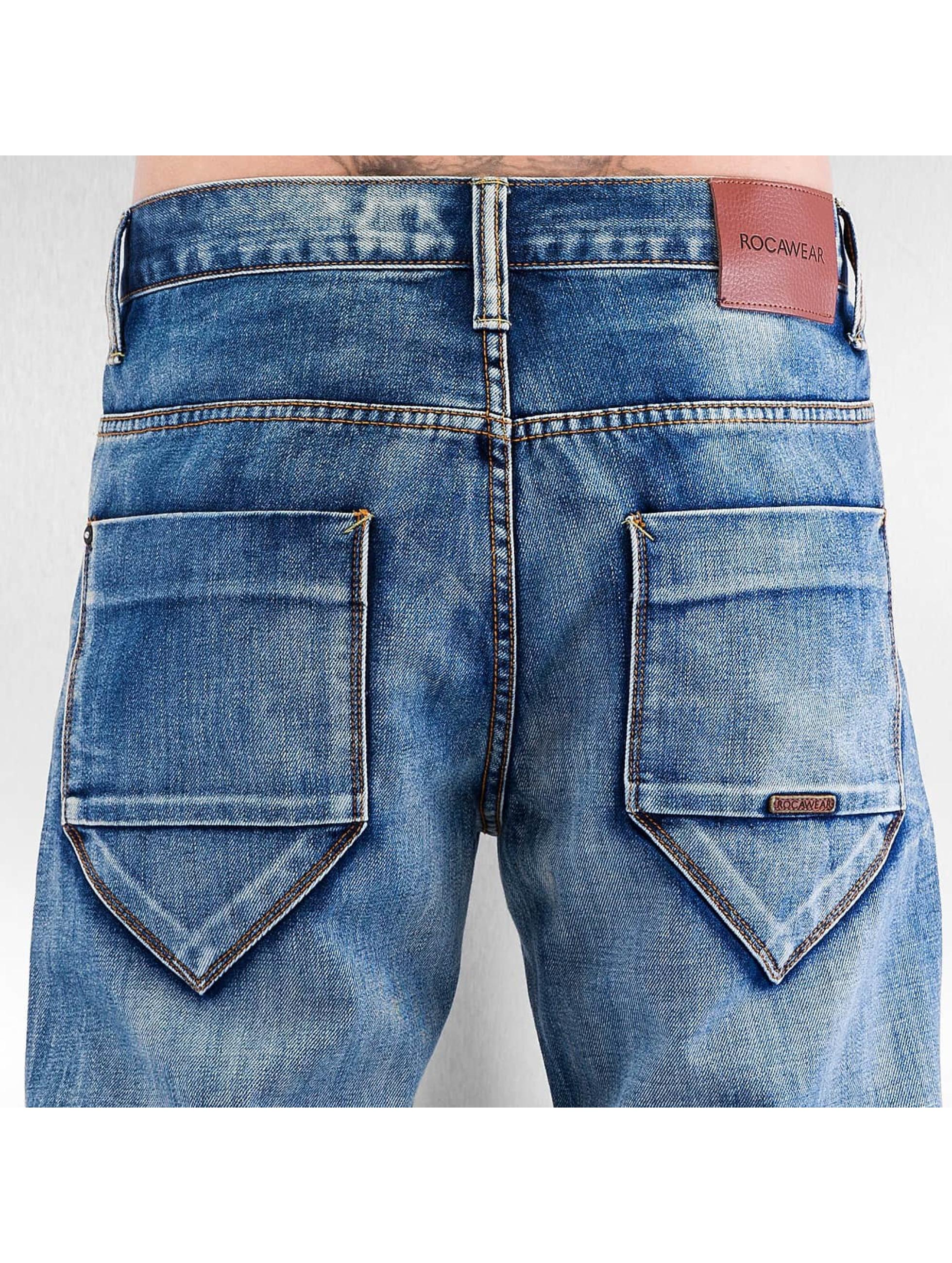 Rocawear Loose Fit Jeans Tapered Loose Fit niebieski