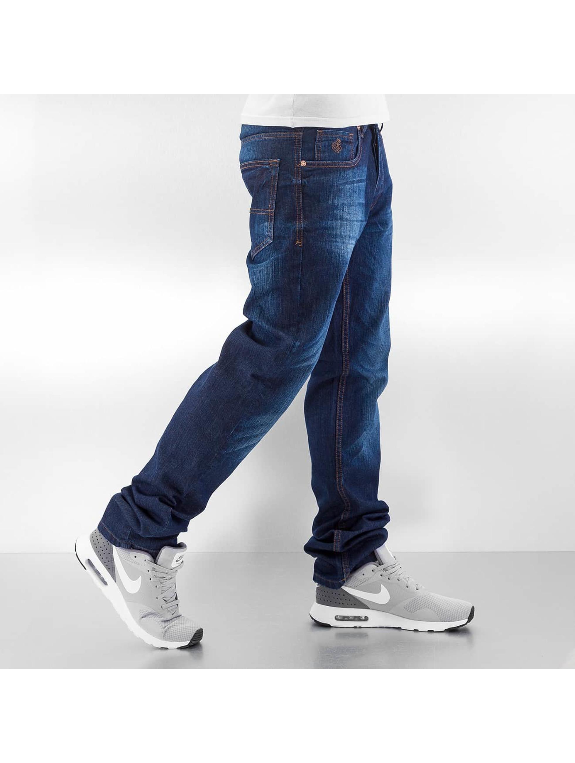 Rocawear Straight Fit farkut Leather Patch Relaxed sininen