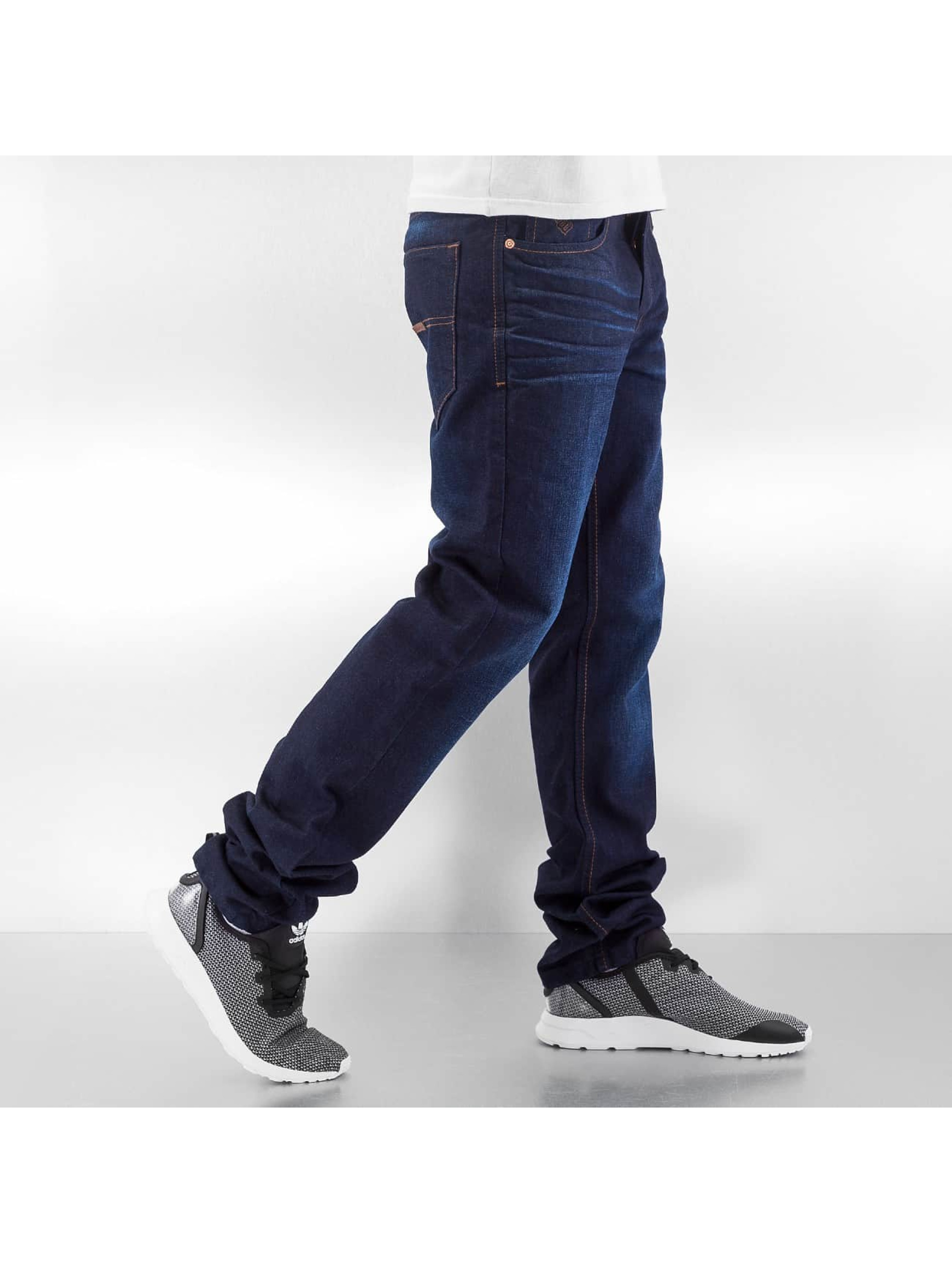 Rocawear Straight Fit Jeans Leather Patch blau
