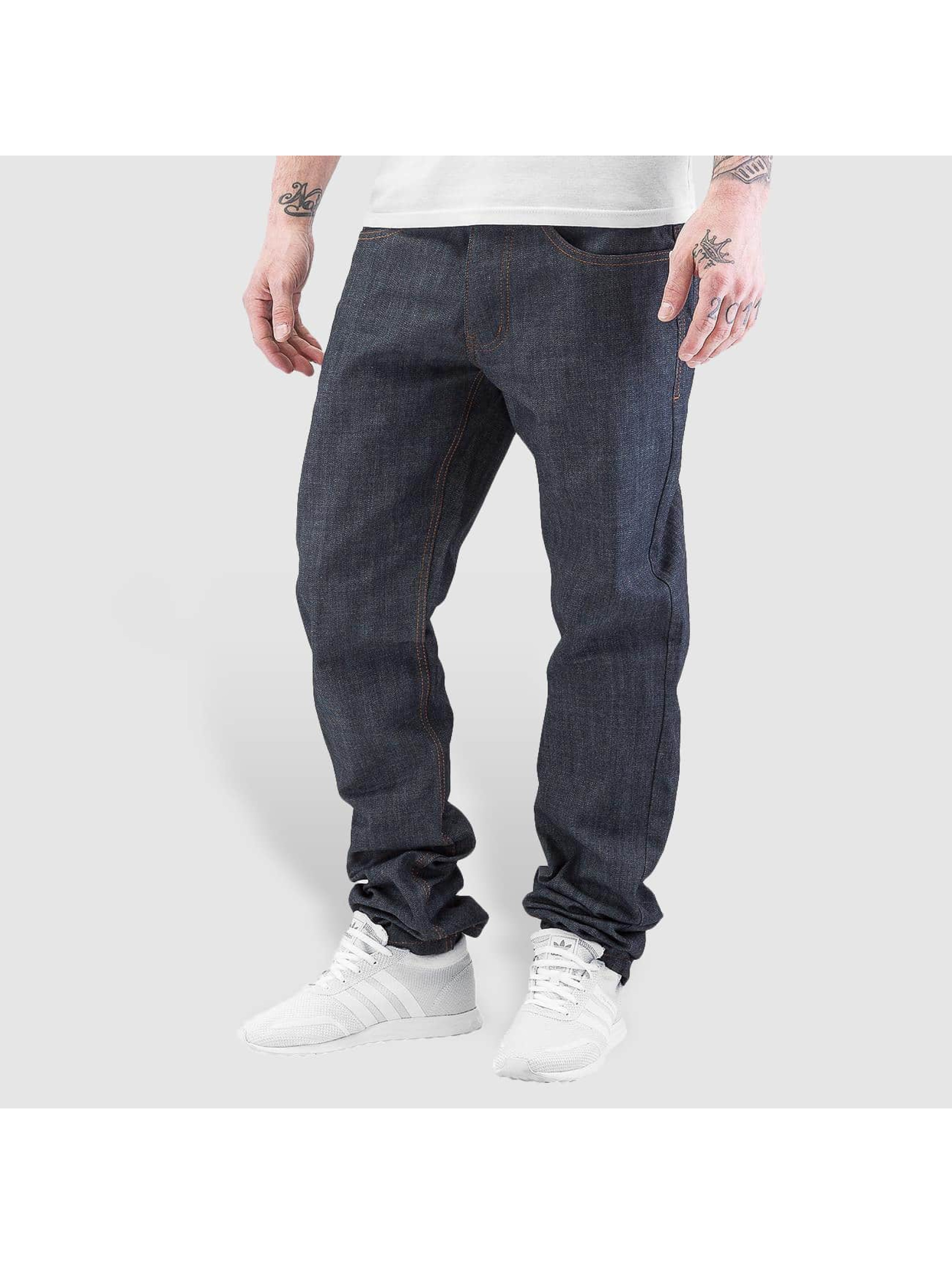 Rocawear Straight fit jeans Leather Patch grijs