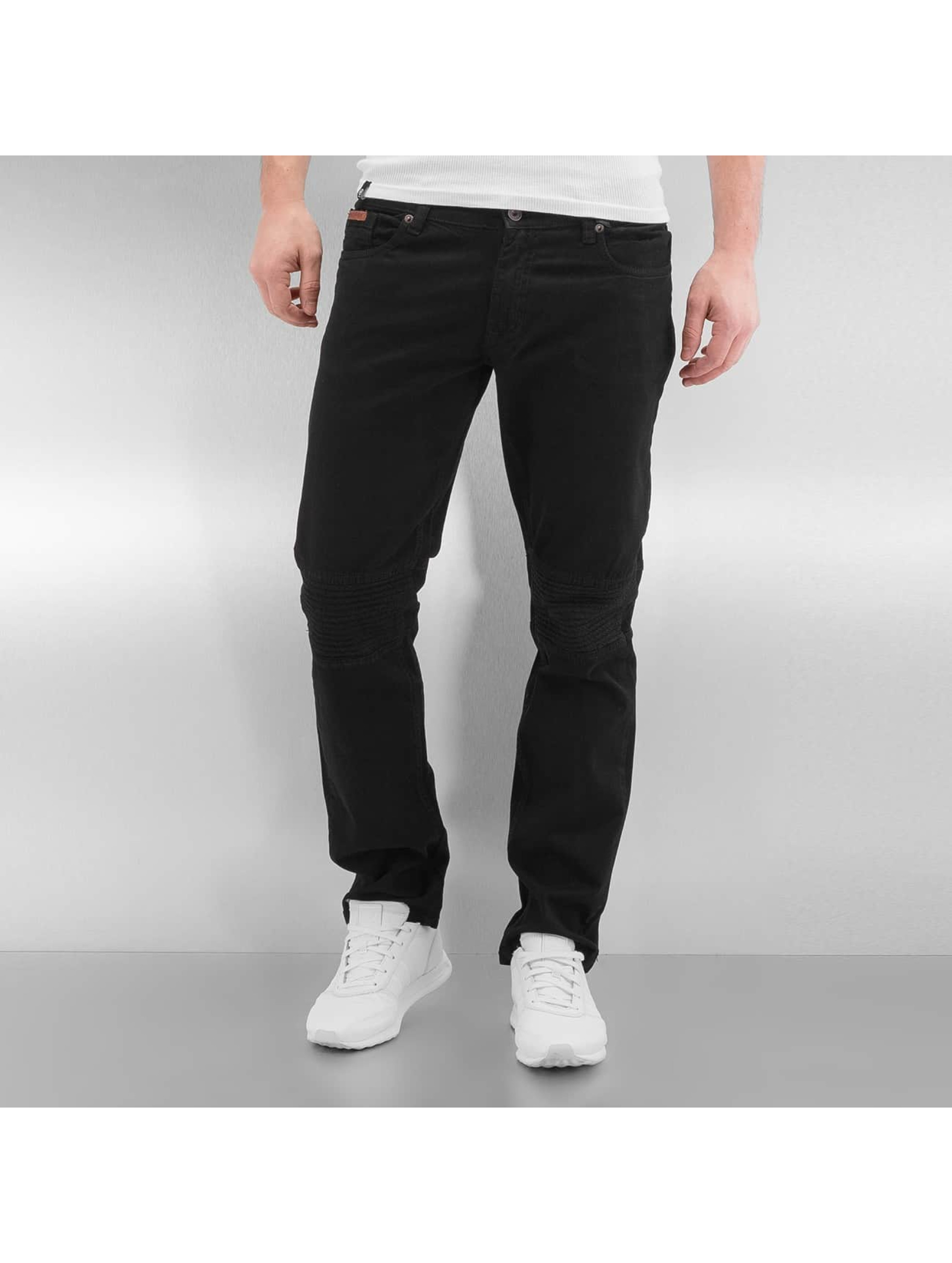 Rocawear heren straight fit jeans Quilted - zwart