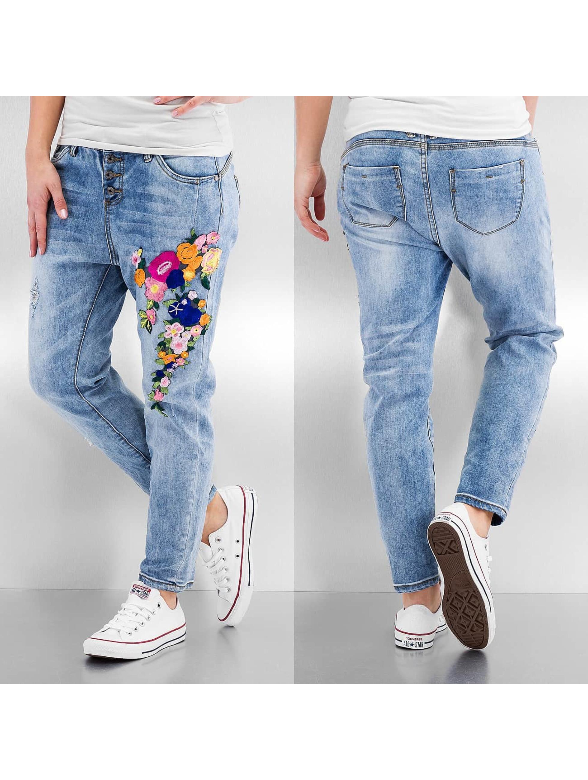 Rock Angel Jean / Jeans Boyfriend Caren en bleu