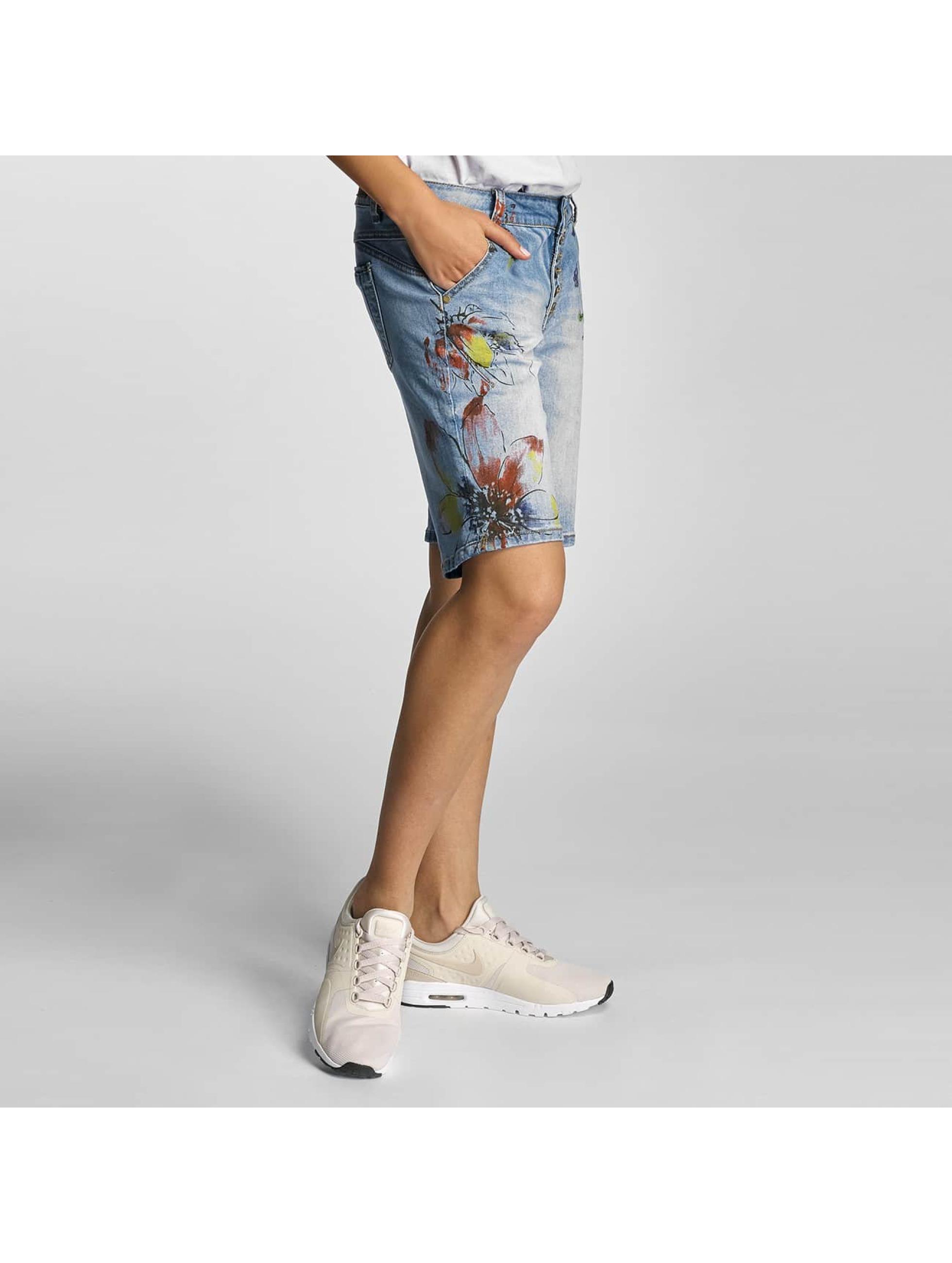 Rock Angel Pantalón cortos Alva Flowers azul