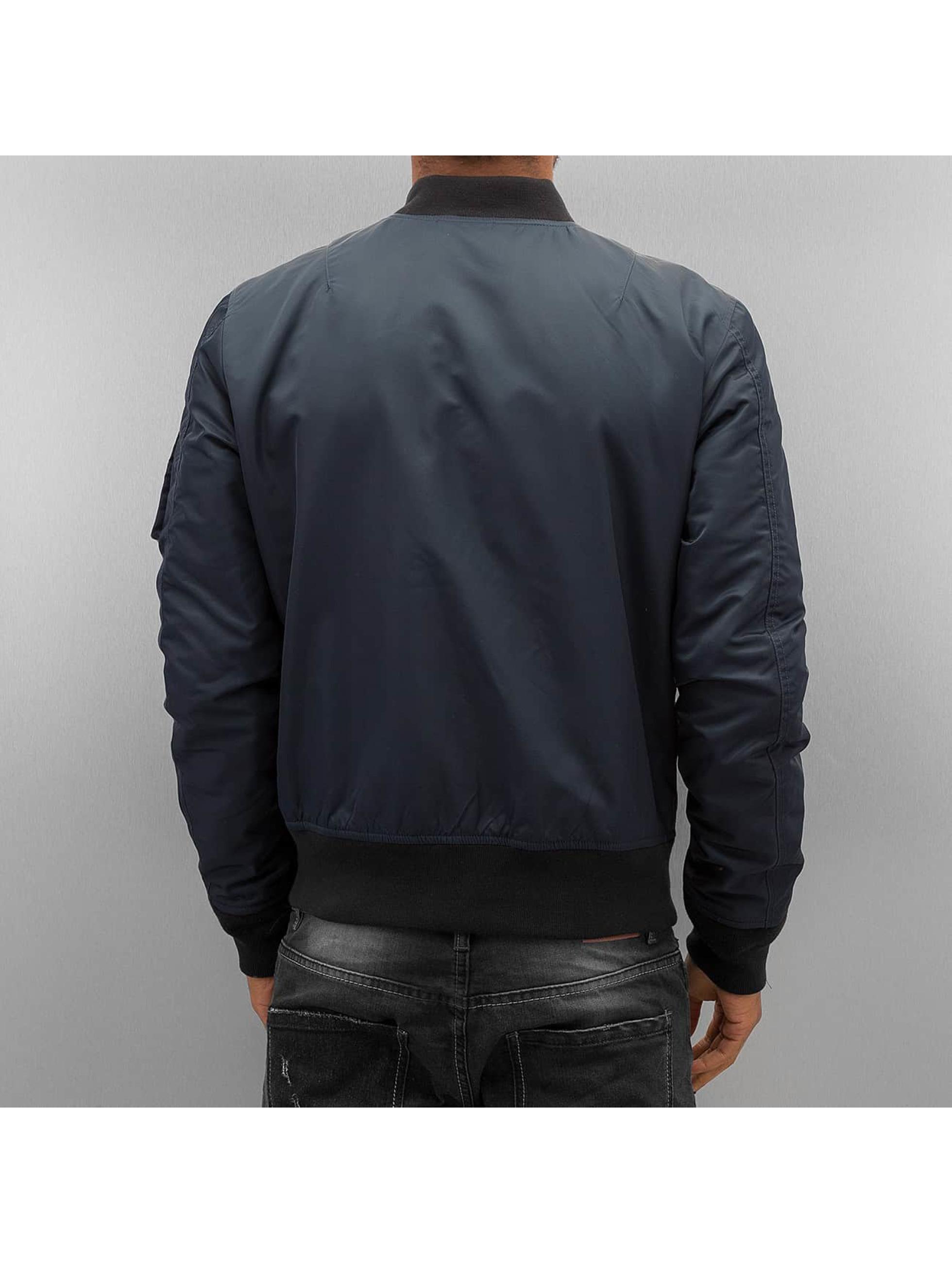 Schott NYC Куртка-бомбардир Bomber синий
