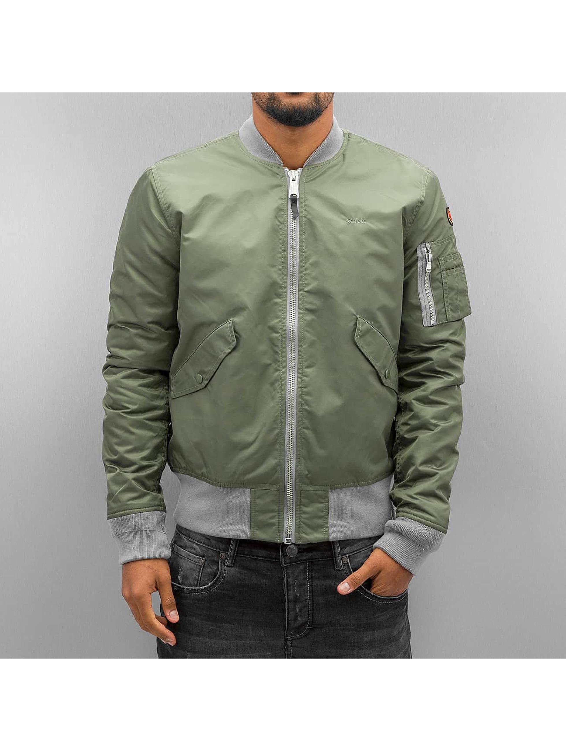 Schott NYC Куртка-бомбардир NYC хаки