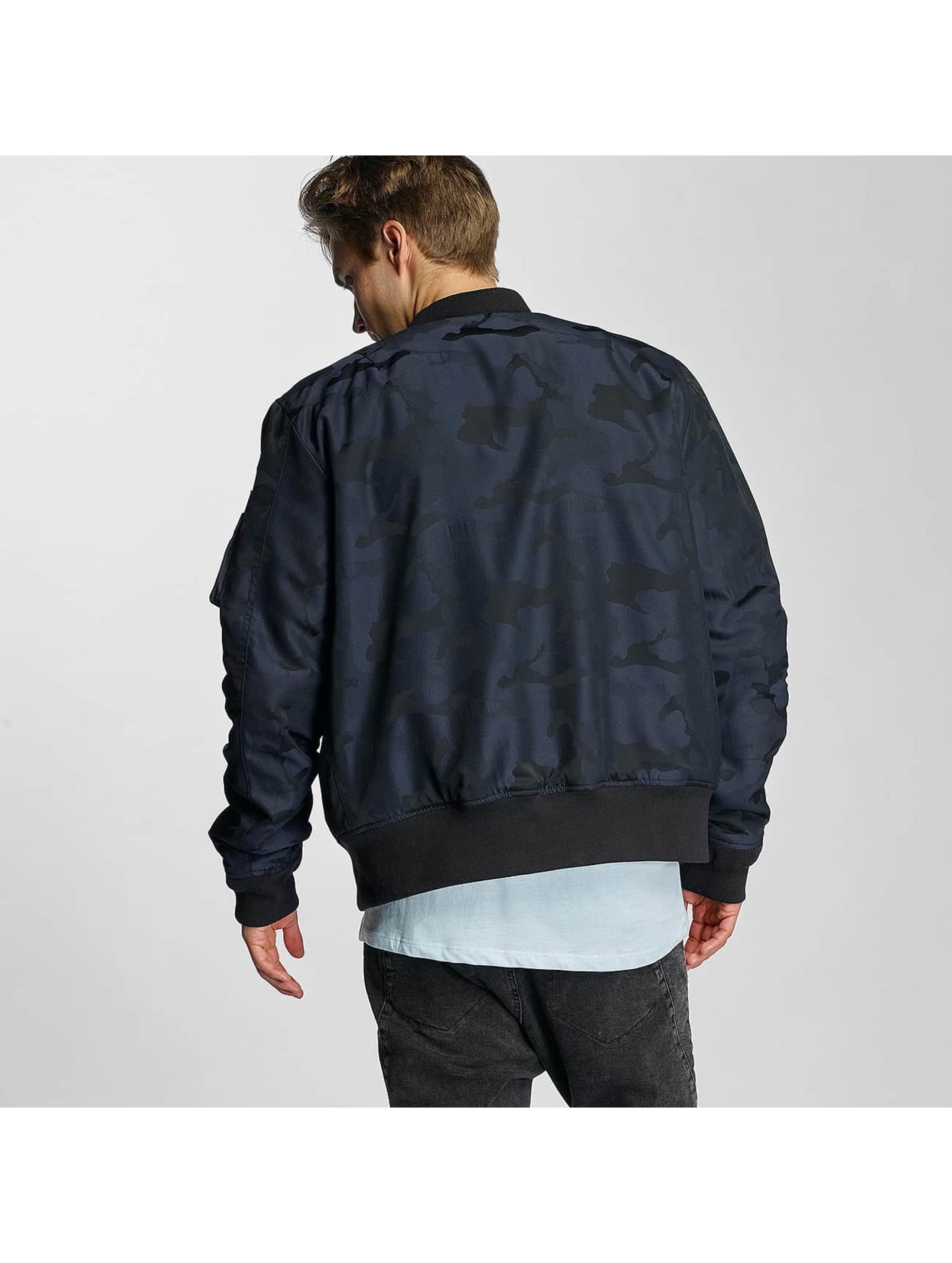Schott NYC Bomber jacket Jacquard blue