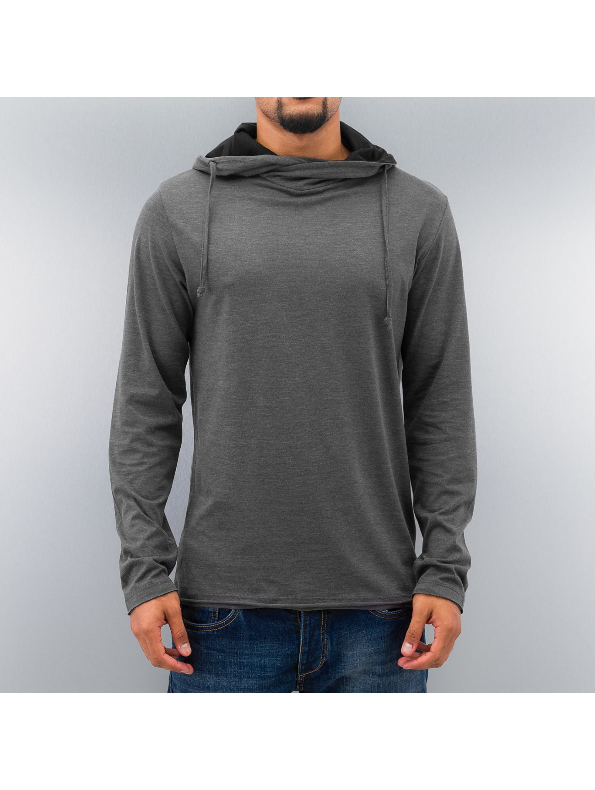 Selected Пуловер London High Neck серый