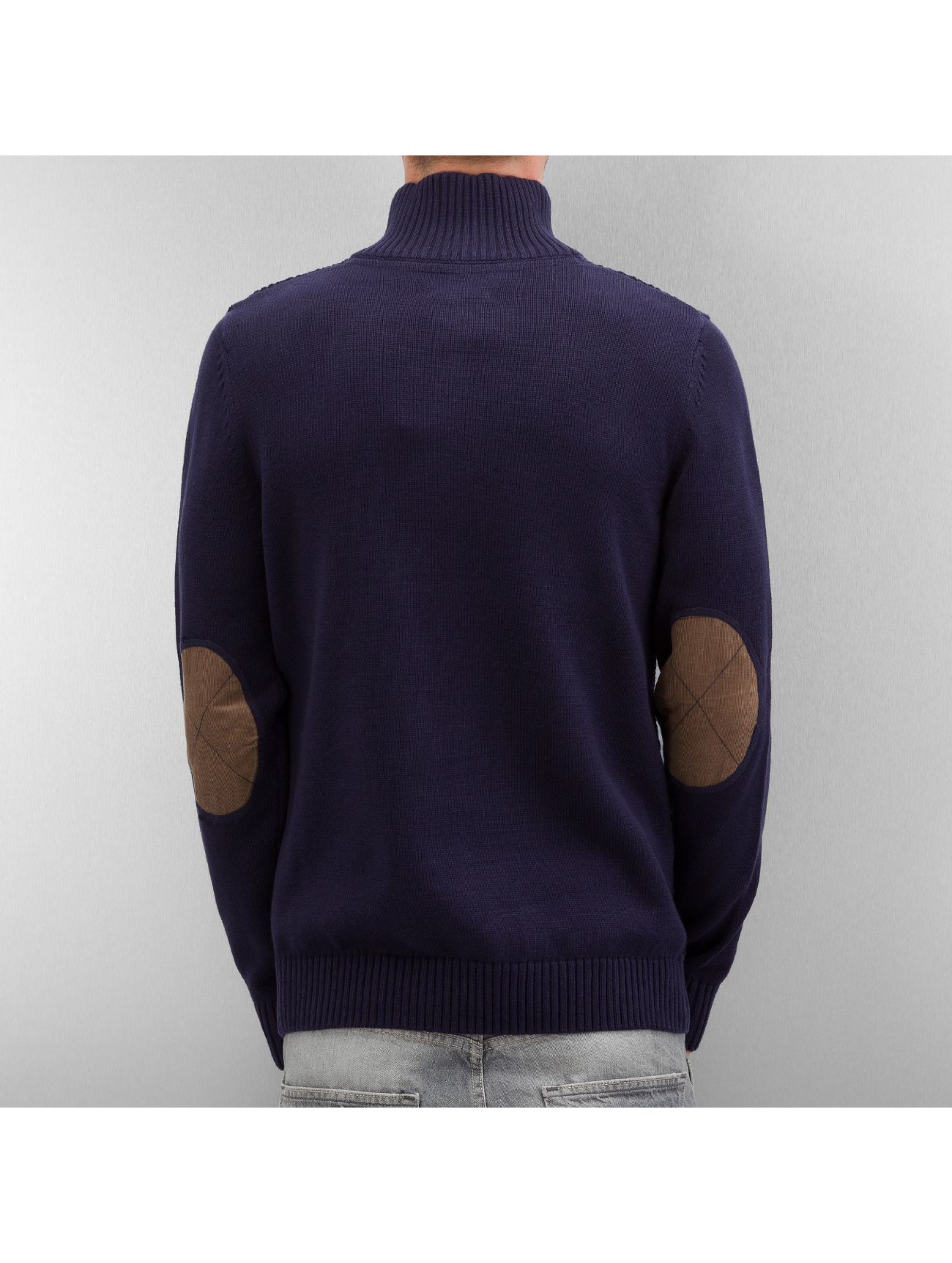 Selected Pullover Staten Button blau
