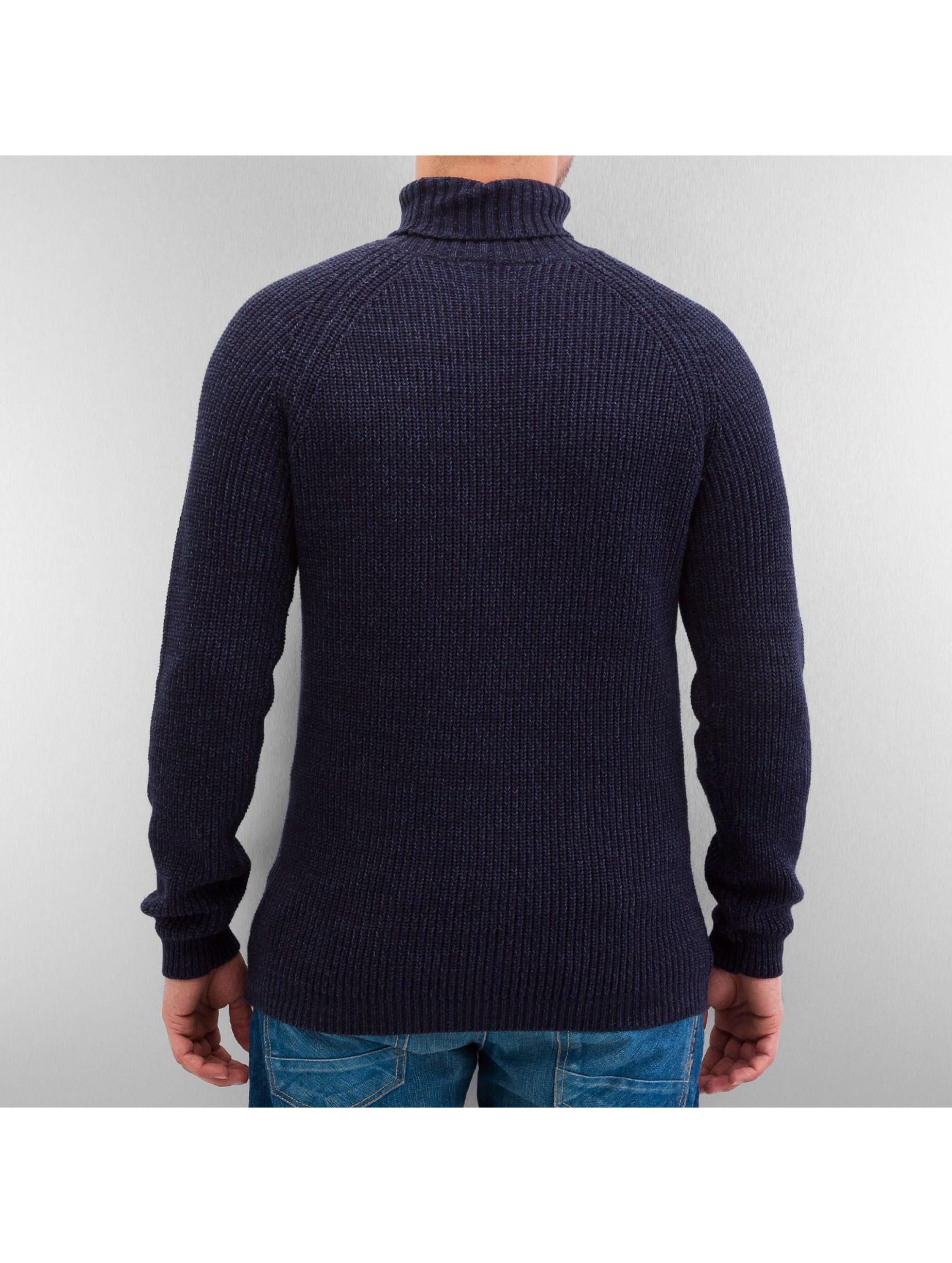 Selected Sweat & Pull Brick Turtle Knit bleu