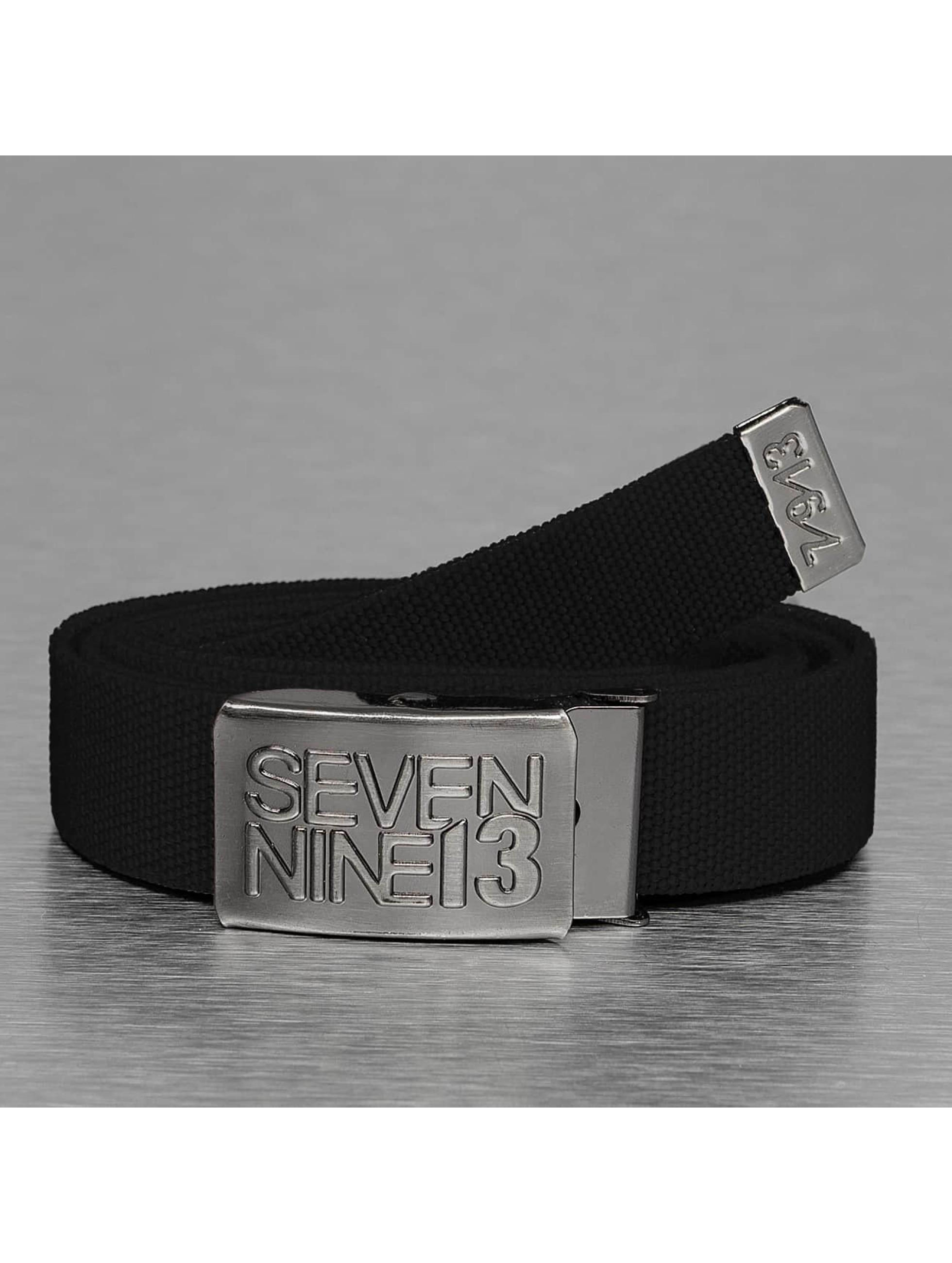 Seven Nine 13 riem Jaws Stretch zwart