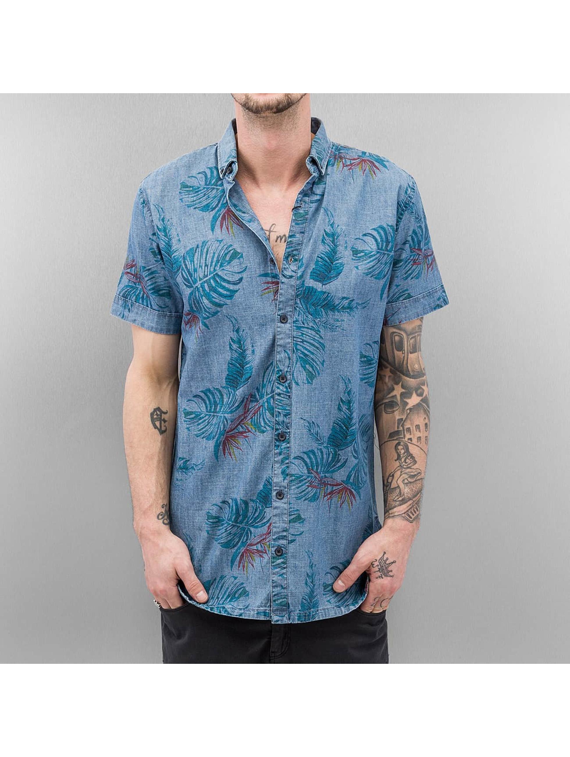 SHINE Original Chemise Palm Print bleu