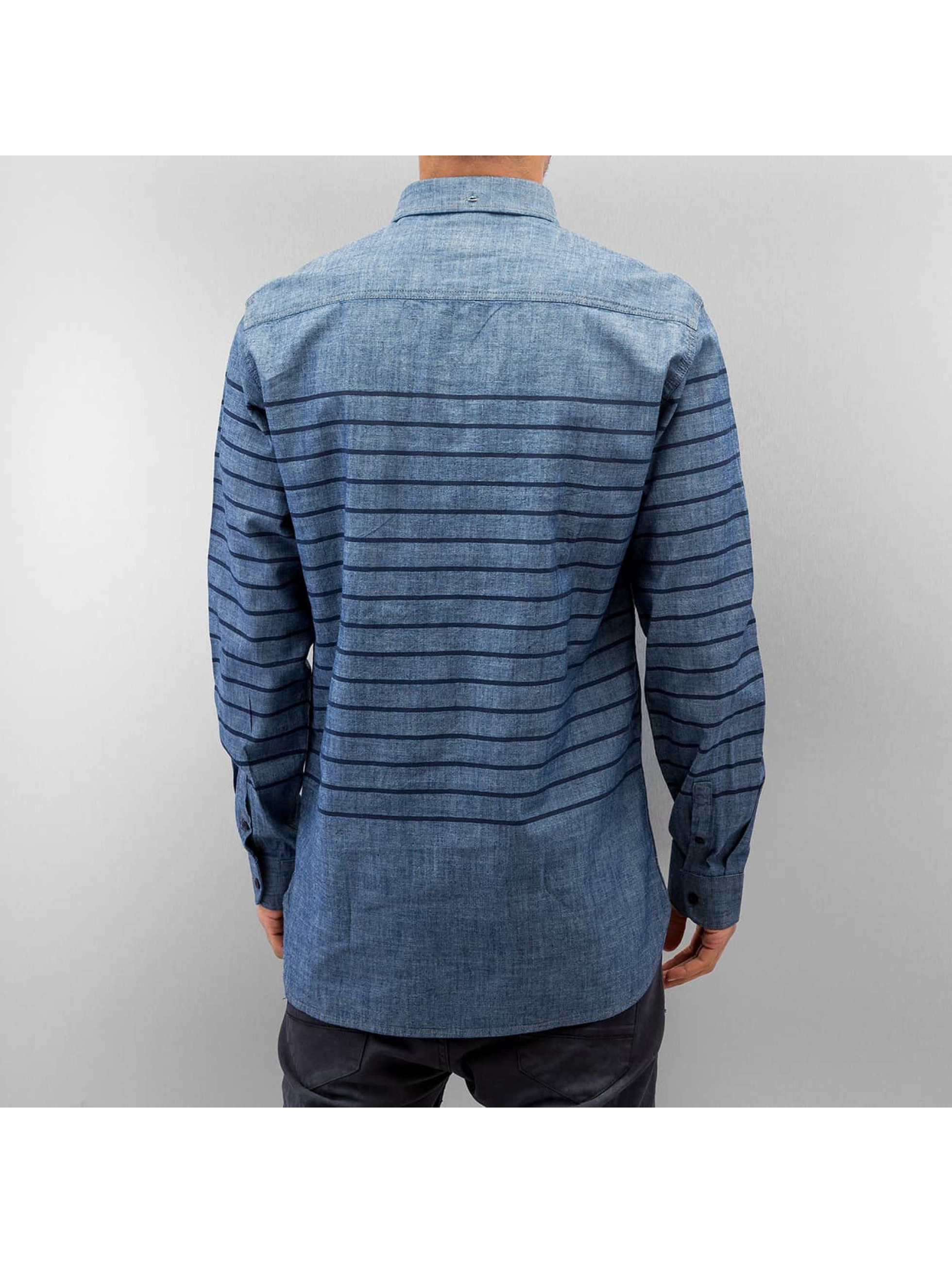 SHINE Original Hemd Striped Chambray blau