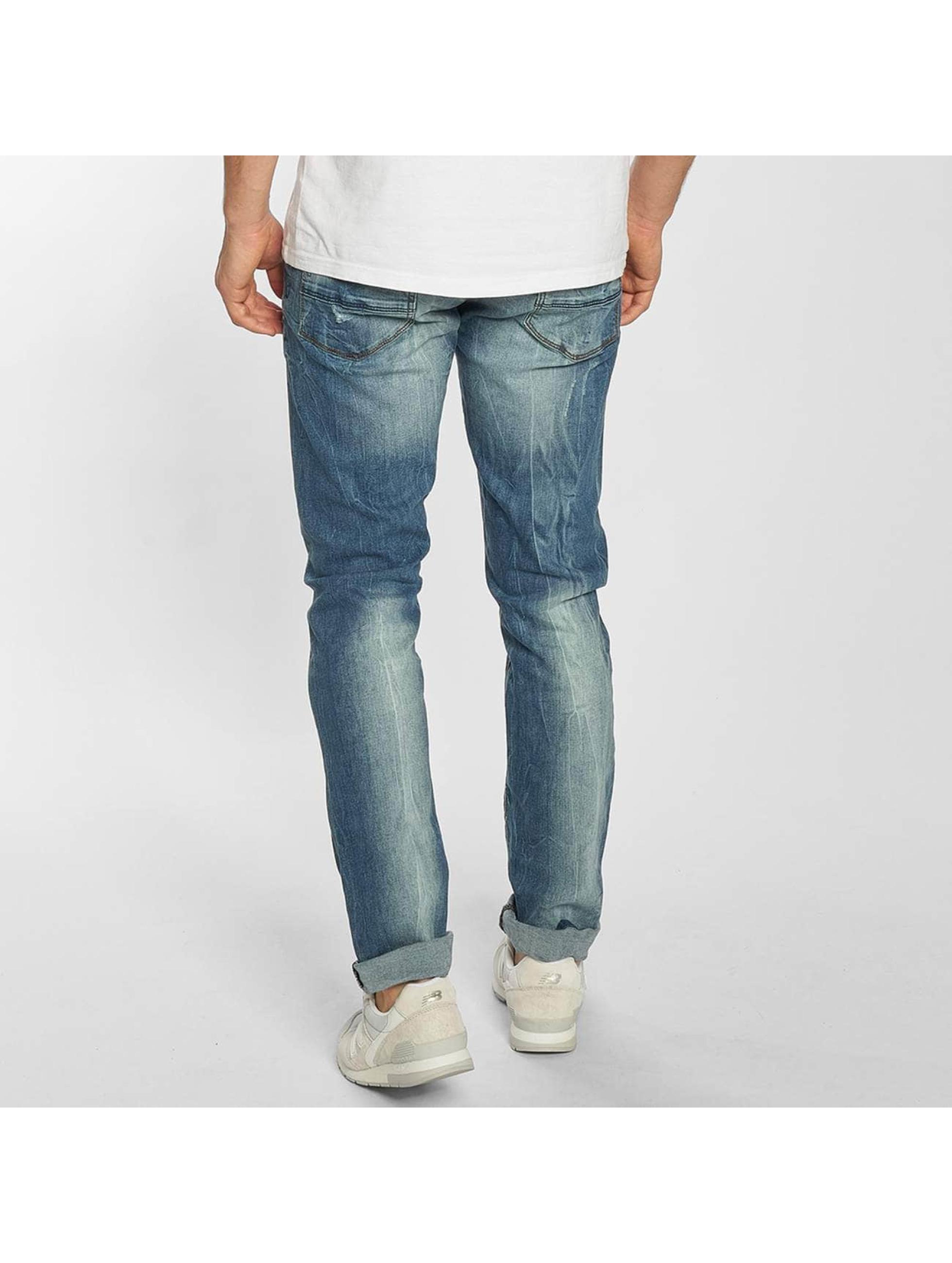 SHINE Original Jean coupe droite Destroy bleu