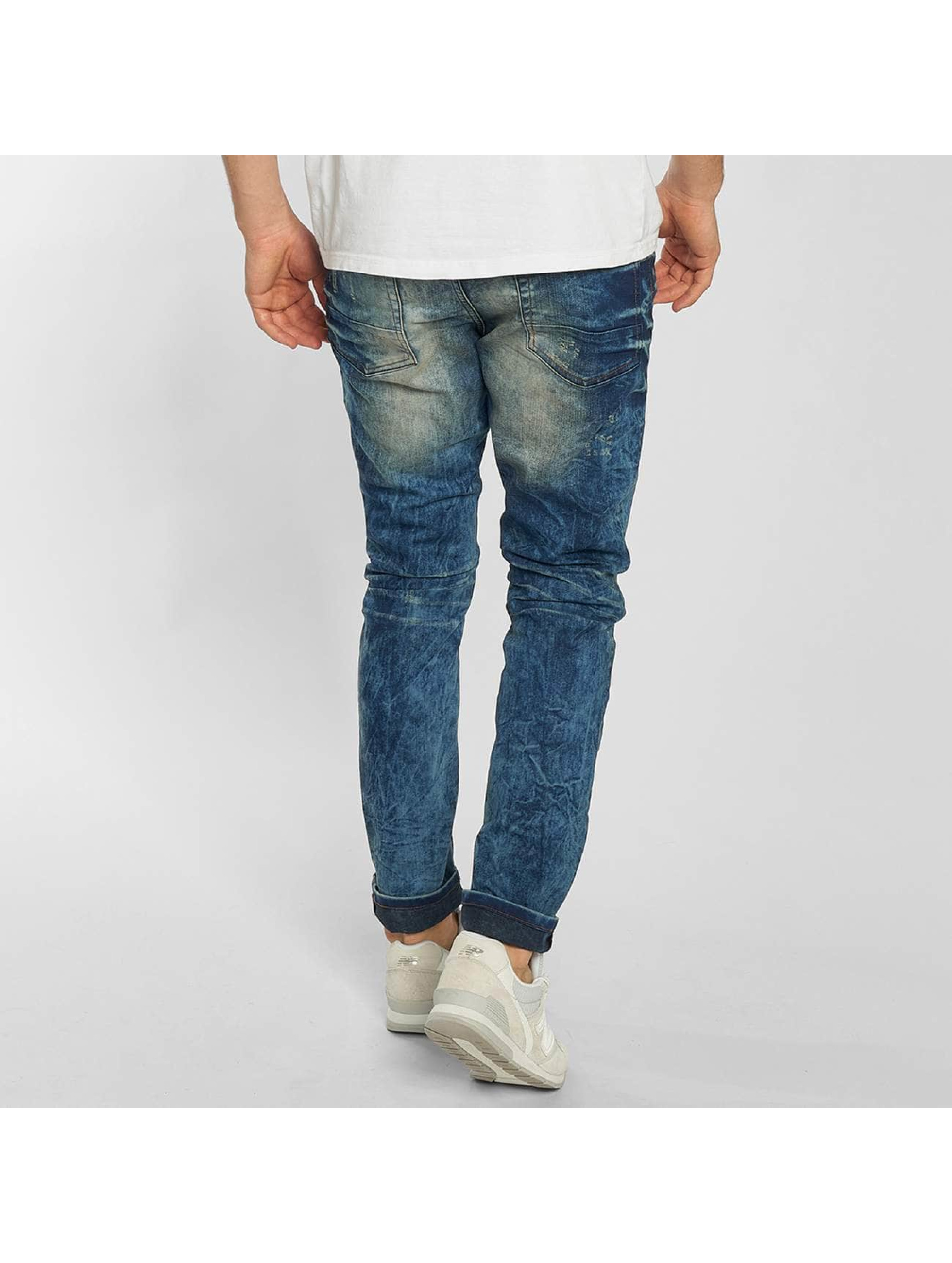 SHINE Original Jean skinny Drop Crotch bleu
