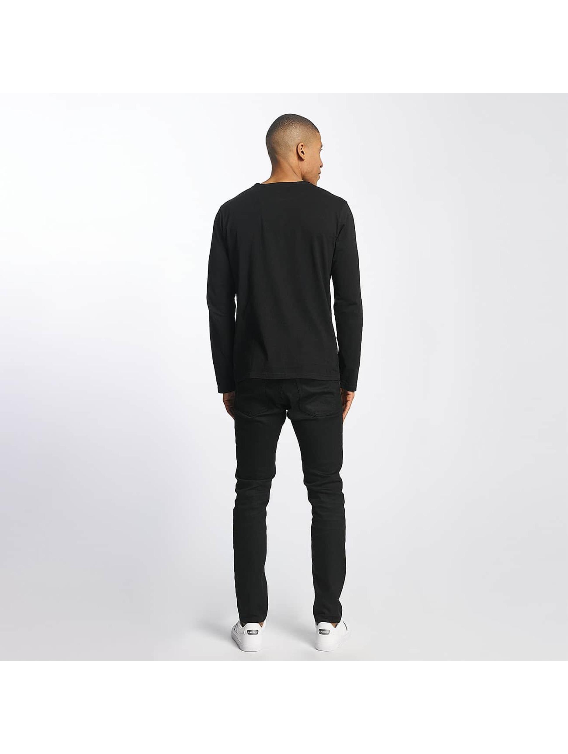 SHINE Original Longsleeve Andrian Dyed & Wash Out zwart