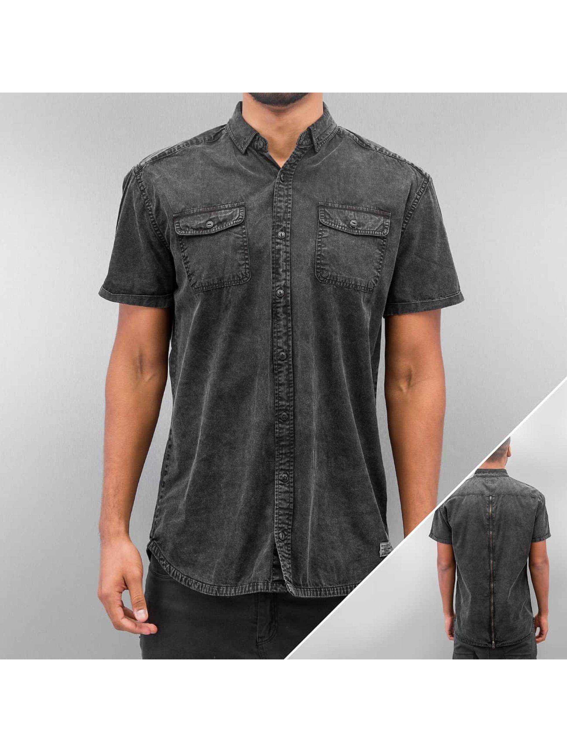 SHINE Original overhemd Washed And Worn Out zwart