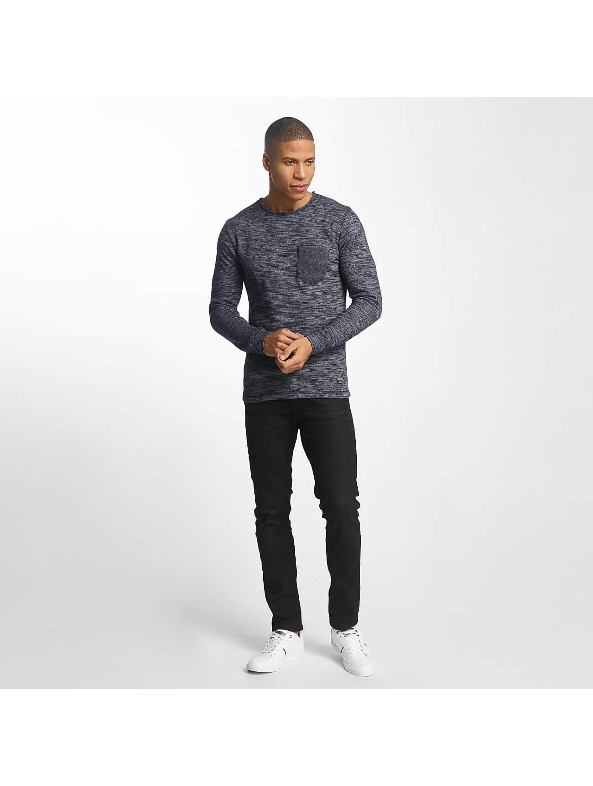 SHINE Original Pullover Malcom Pocket Inside Out blau
