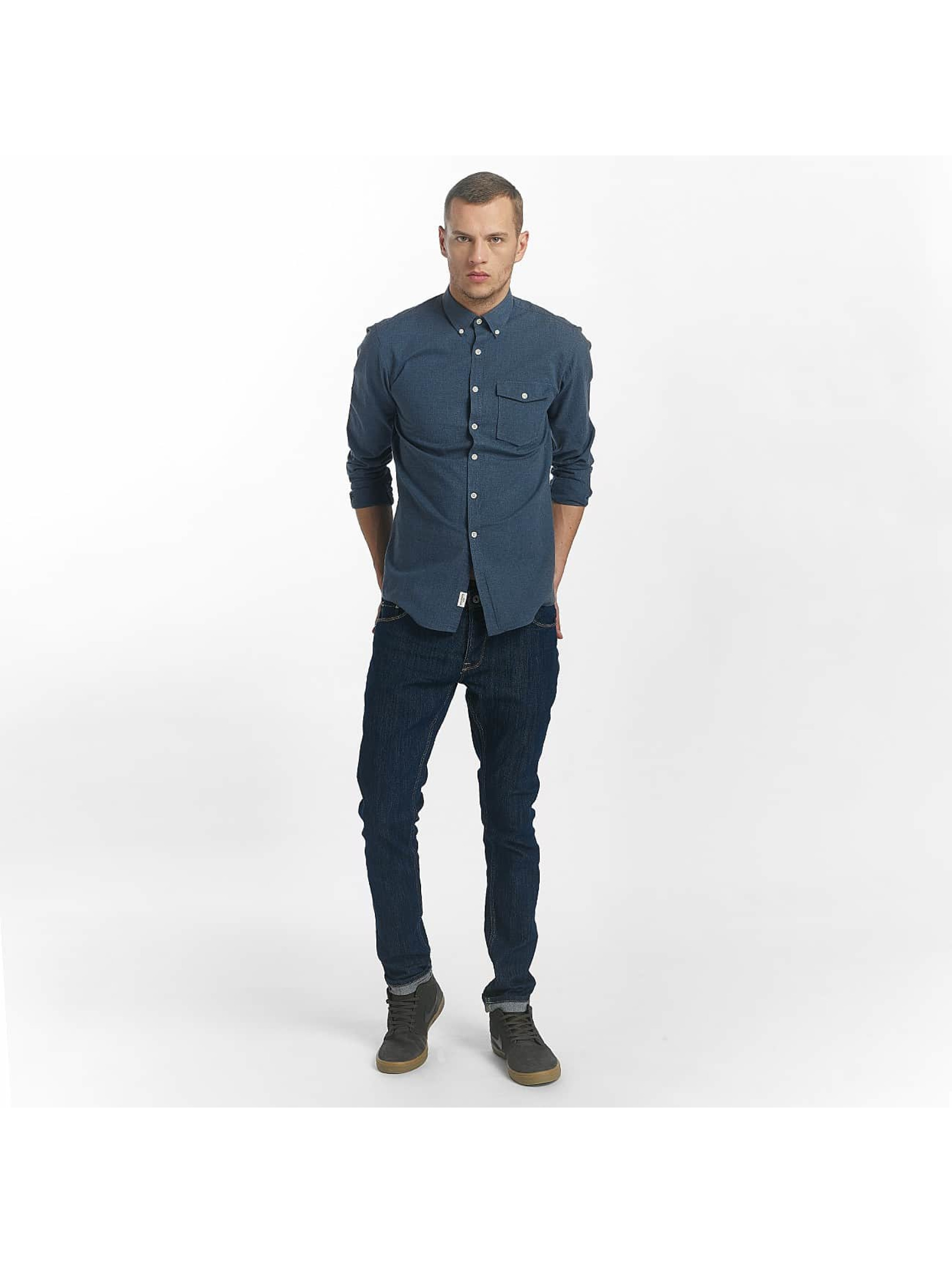 SHINE Original Shirt Cotton Mélange Otto Line blue