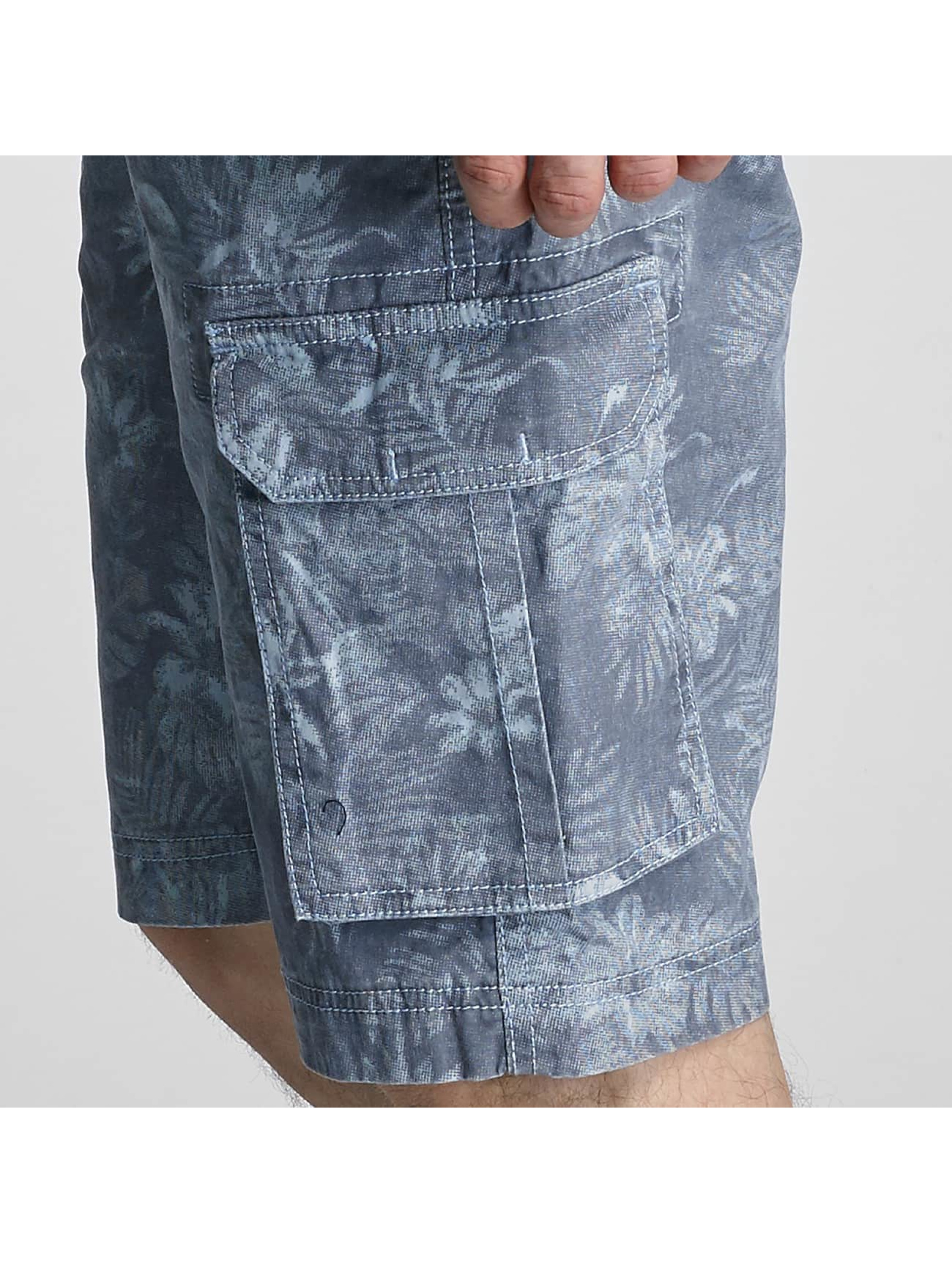 SHINE Original Shorts Long Printed blå