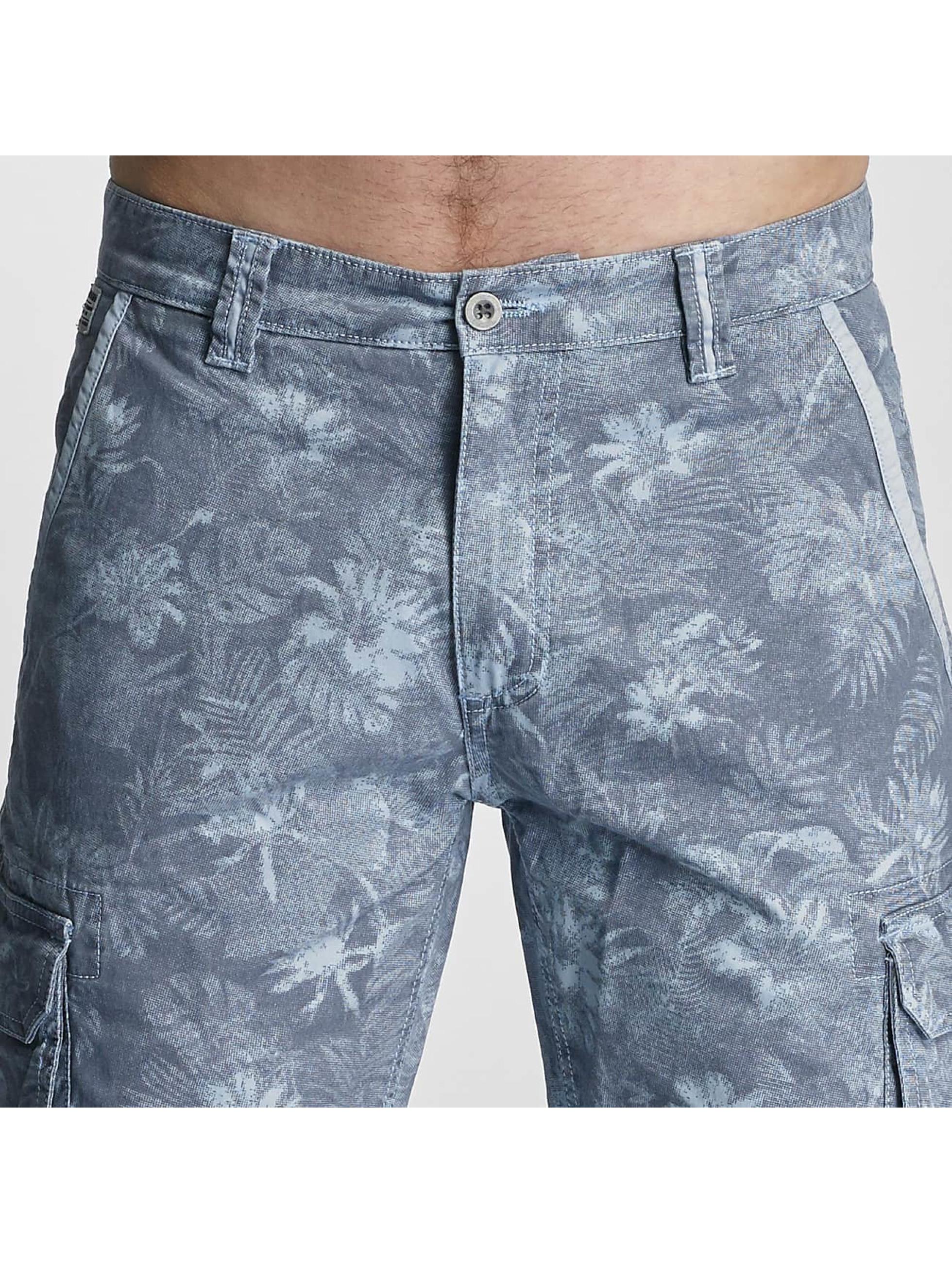 SHINE Original Shorts Long Printed blau
