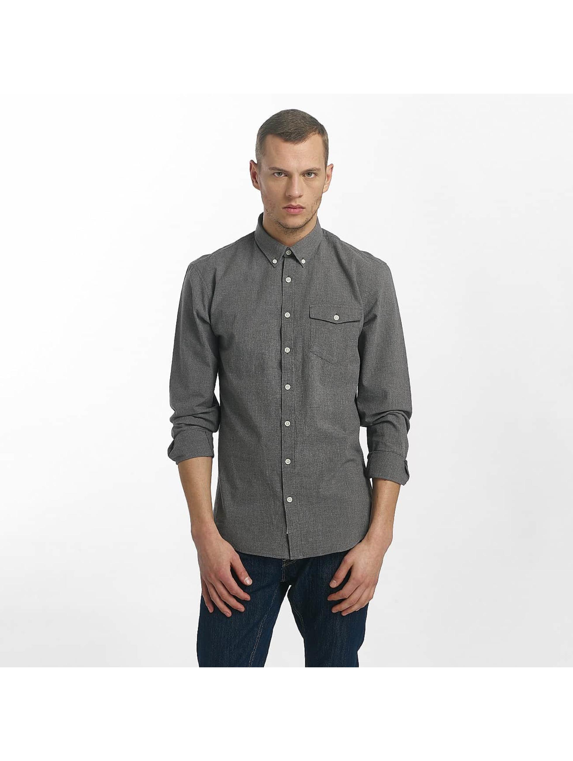 SHINE Original Skjorte Cotton Mélange Otto Line sort