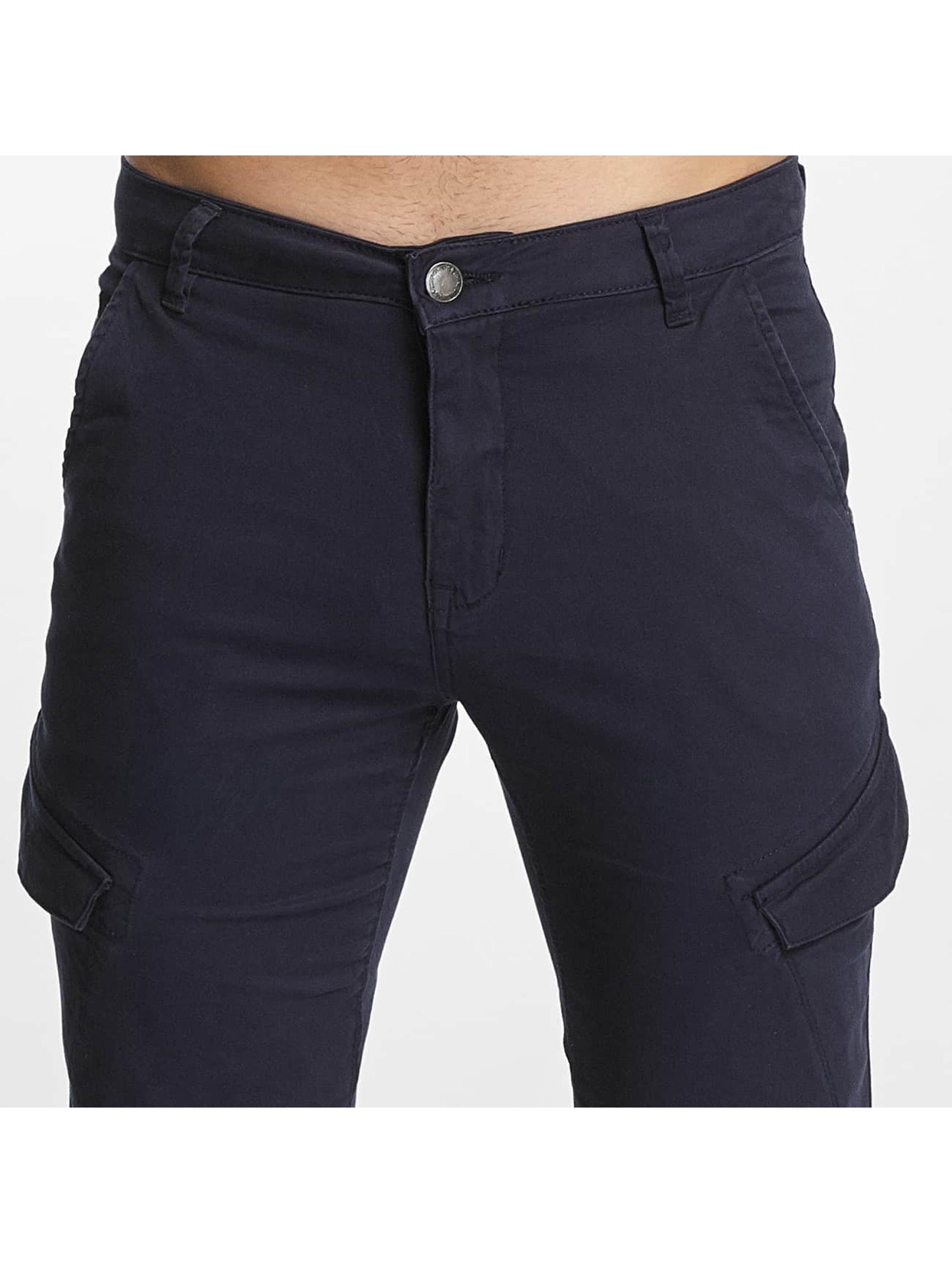 SHINE Original Spodnie Chino/Cargo Slim niebieski