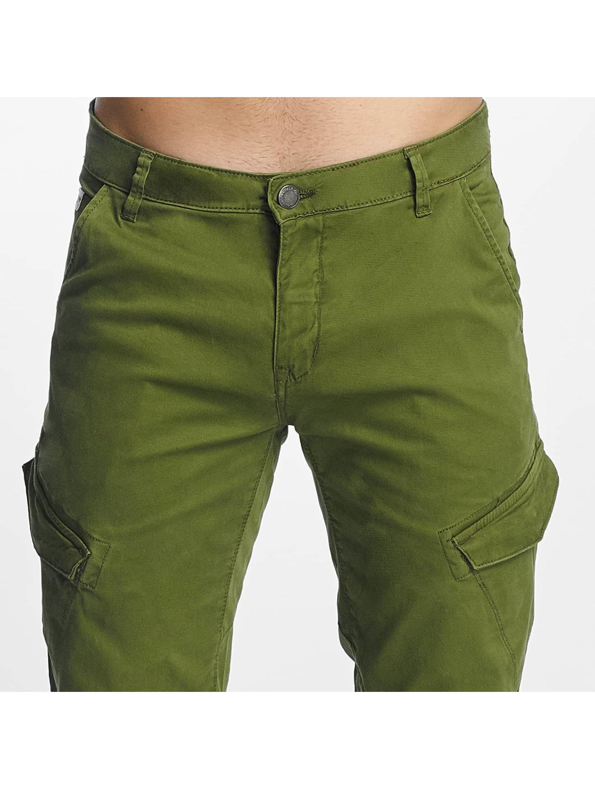 SHINE Original Spodnie Chino/Cargo Slim zielony