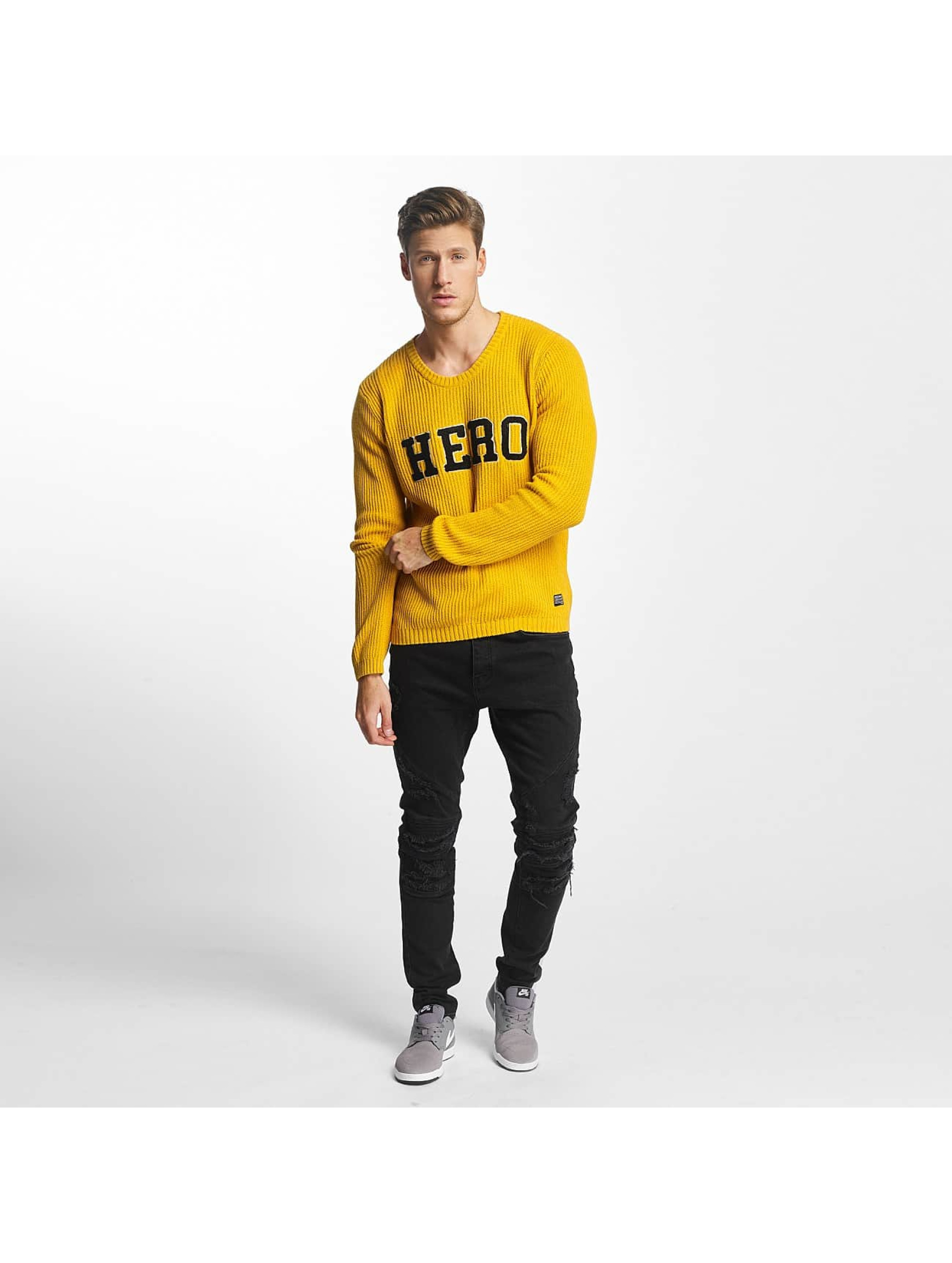 SHINE Original Sweat & Pull O-Neck Knit jaune