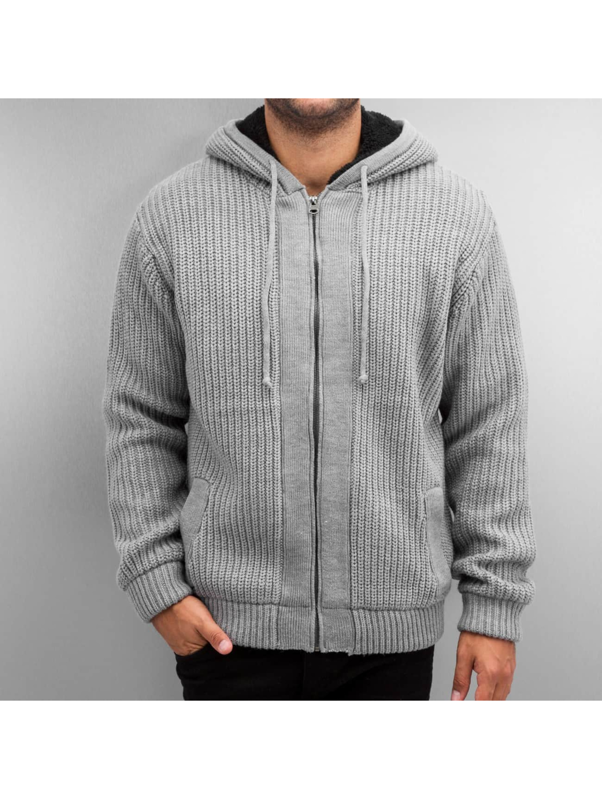 SHINE Original Sweat capuche zippé Boa gris